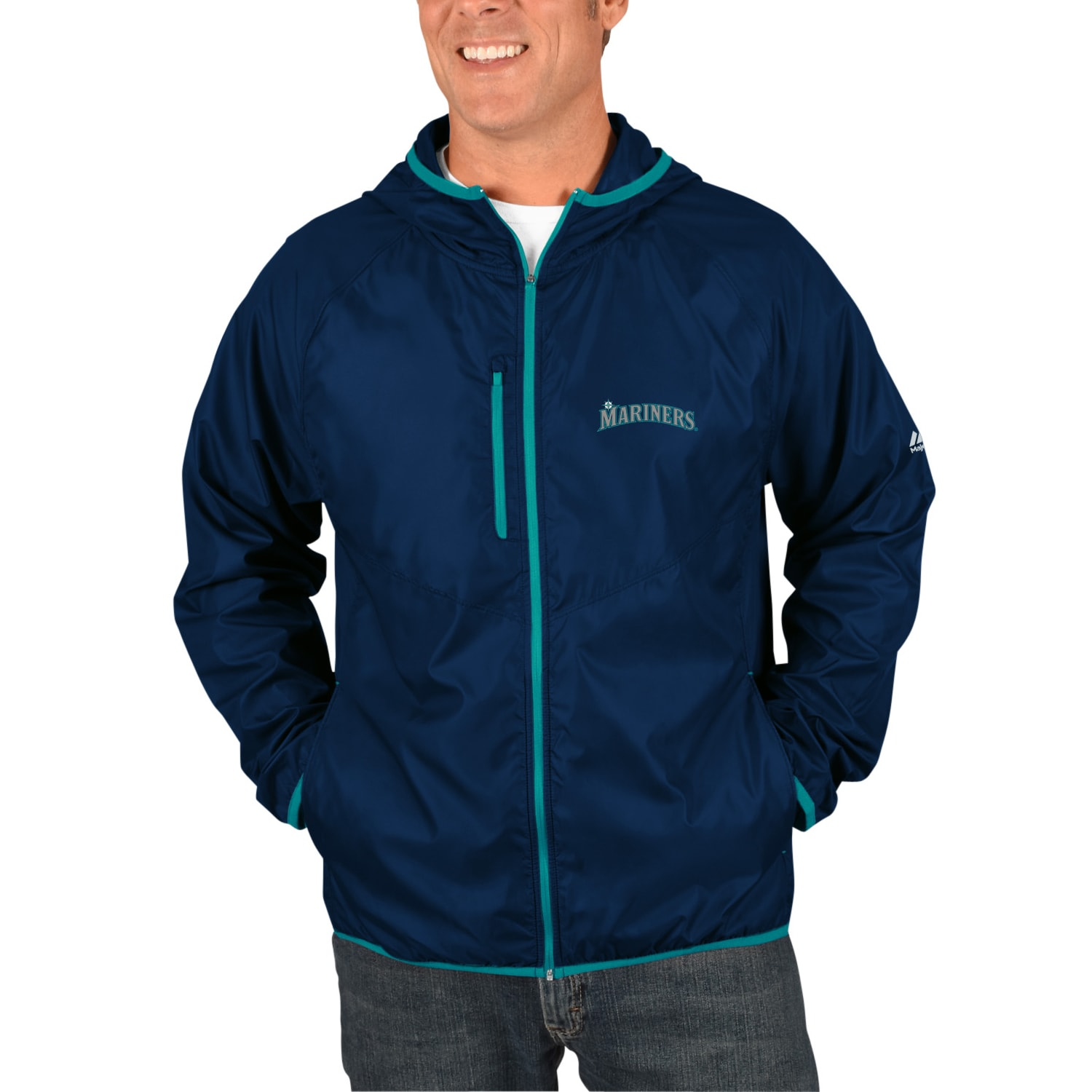Seattle Mariners Majestic Weakness is a Choice Full-Zip Jacket - Navy