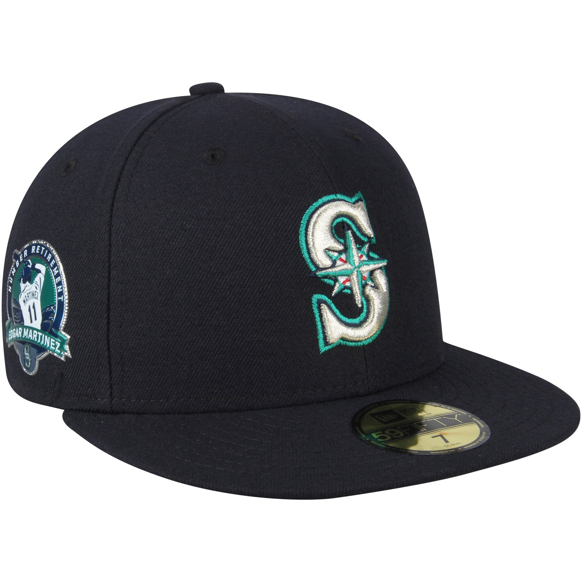 Edgar Martinez Seattle Mariners New Era Number Retirement 59FIFTY Fitted Hat - Navy