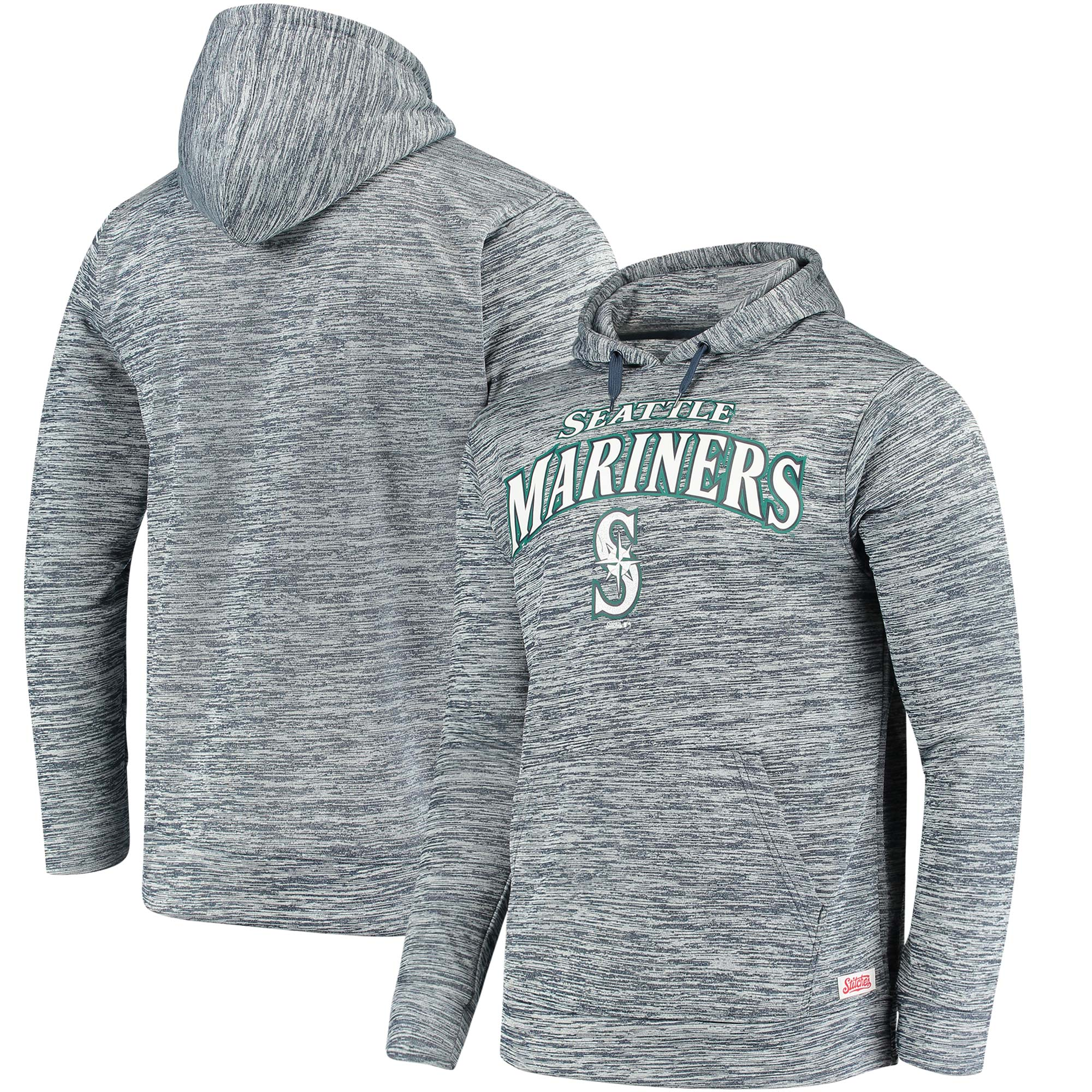 Seattle Mariners Stitches Digital Fleece Pullover Hoodie - Heathered Navy