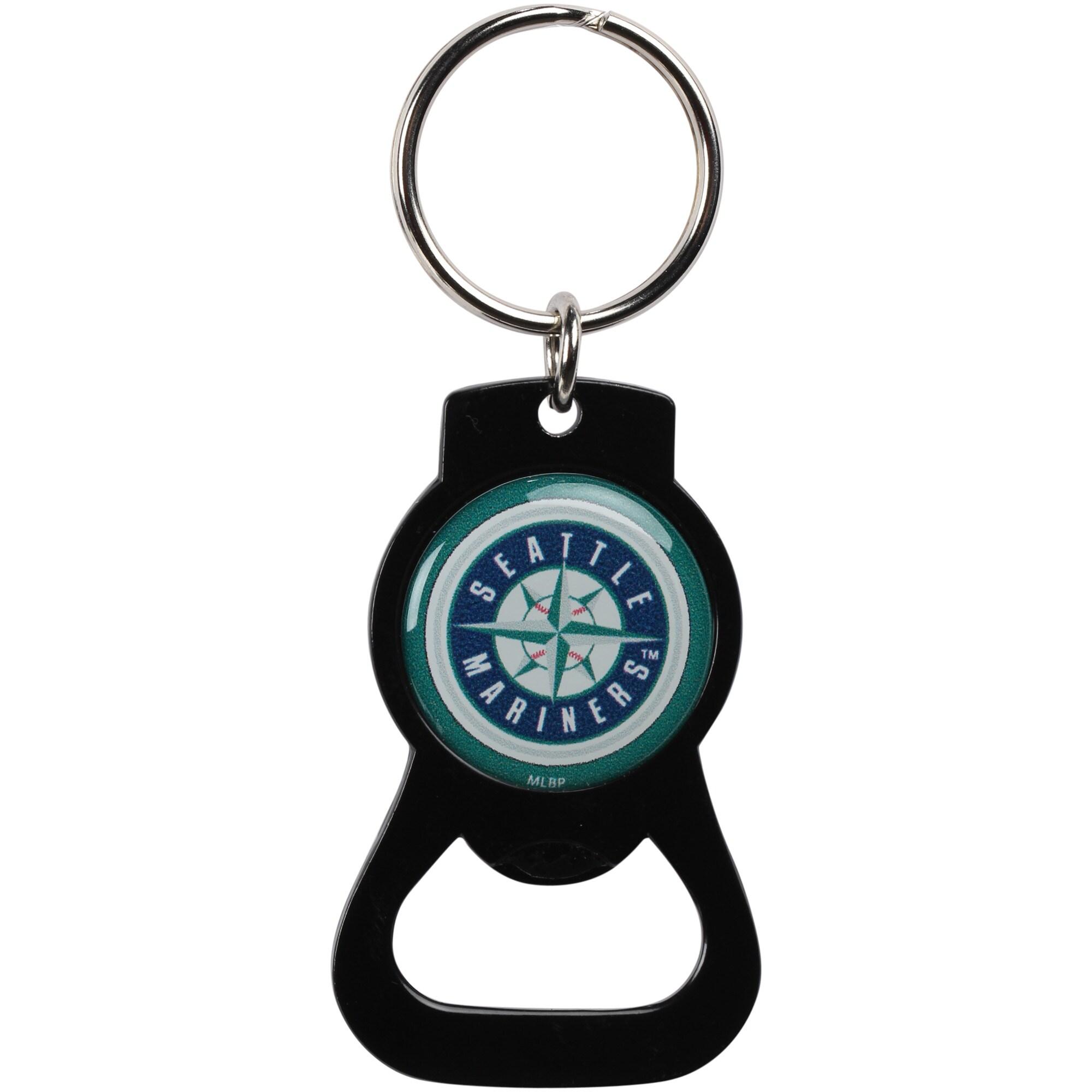 Seattle Mariners Bottle Opener Keychain - Black