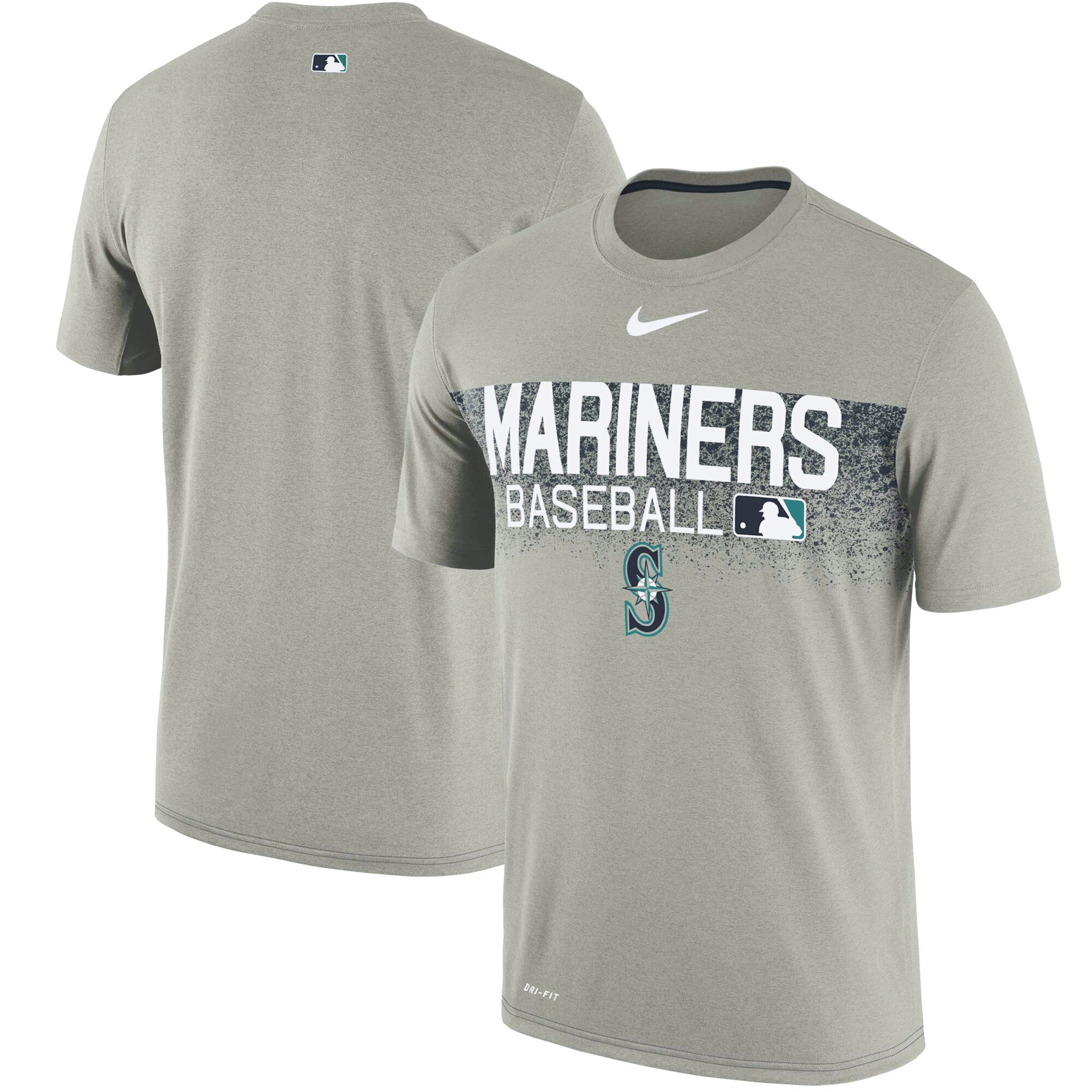 Seattle Mariners Nike Authentic Collection Legend Team Issued Performance T-Shirt - Gray