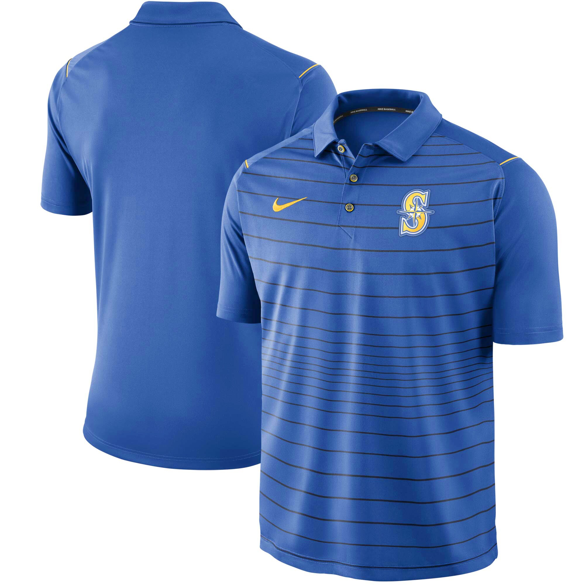 Seattle Mariners Nike Stripe Polo - Royal