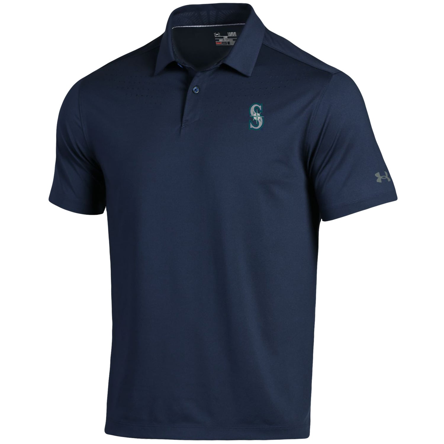 Seattle Mariners Under Armour Coolswitch Ice Pick Performance Polo - Navy