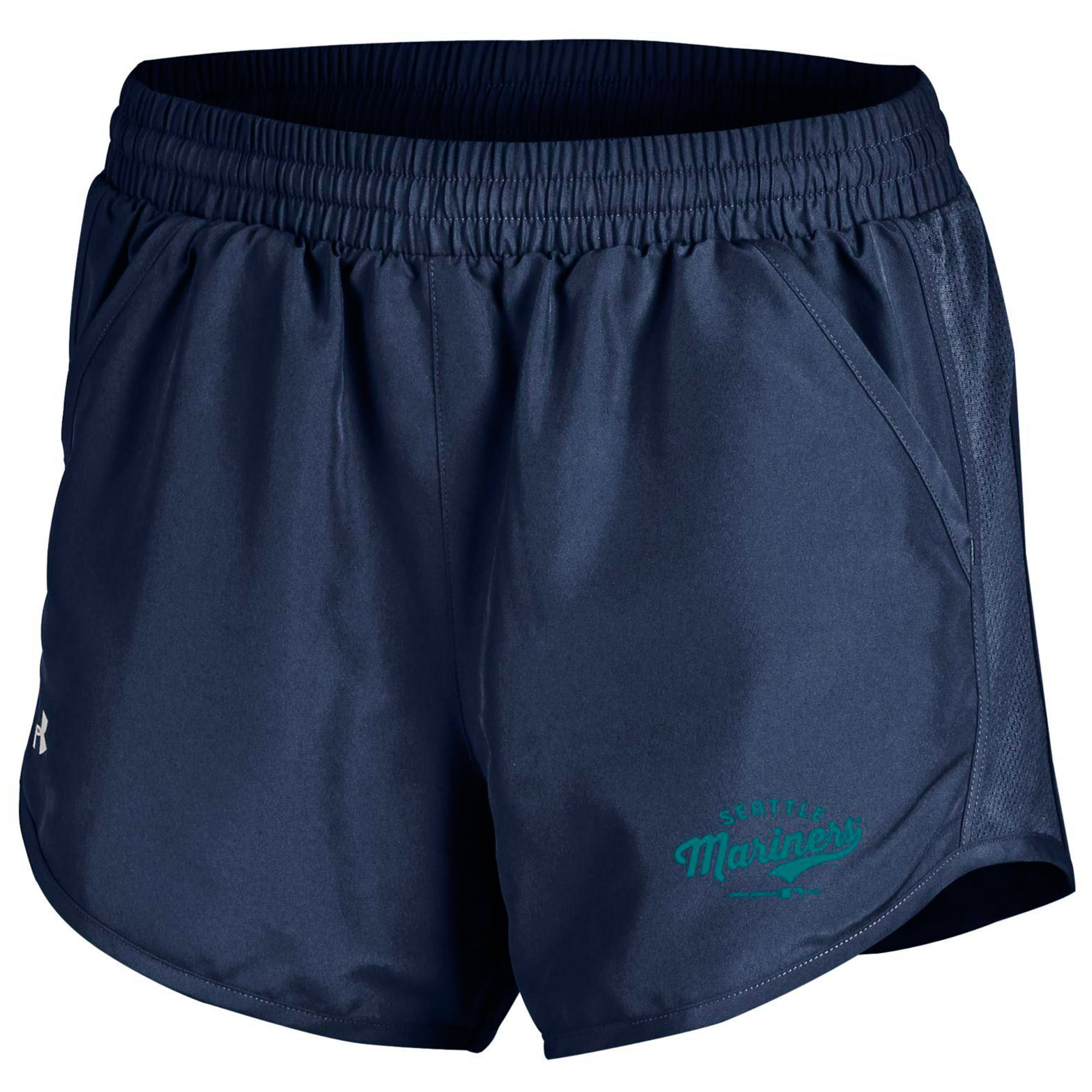 Seattle Mariners Under Armour Women's Fly By Performance Running Shorts - Navy