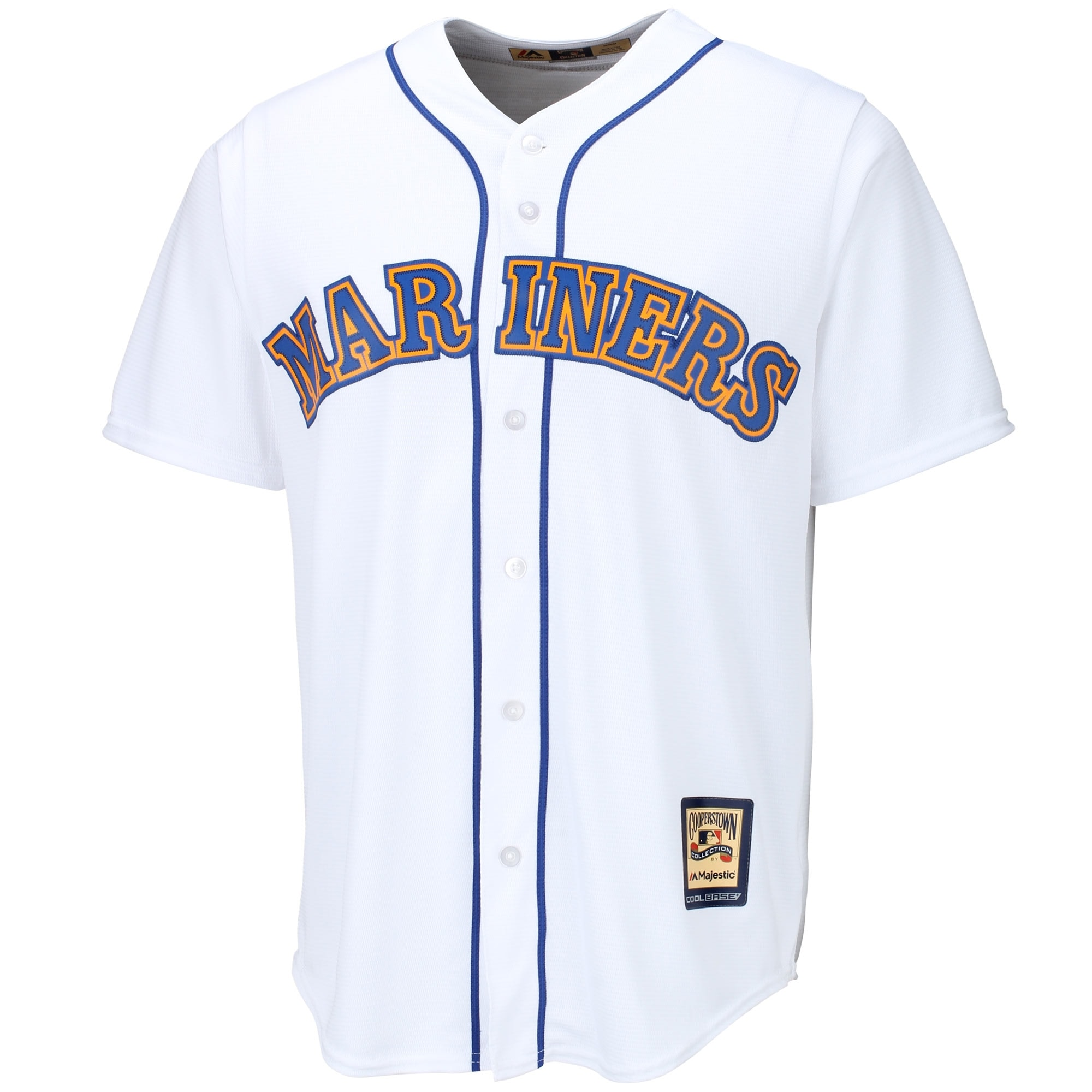 Seattle Mariners Majestic Cooperstown Cool Base Team Jersey - White