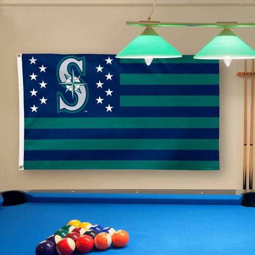 Seattle Mariners WinCraft Deluxe Stars & Stripes 3' x 5' Flag