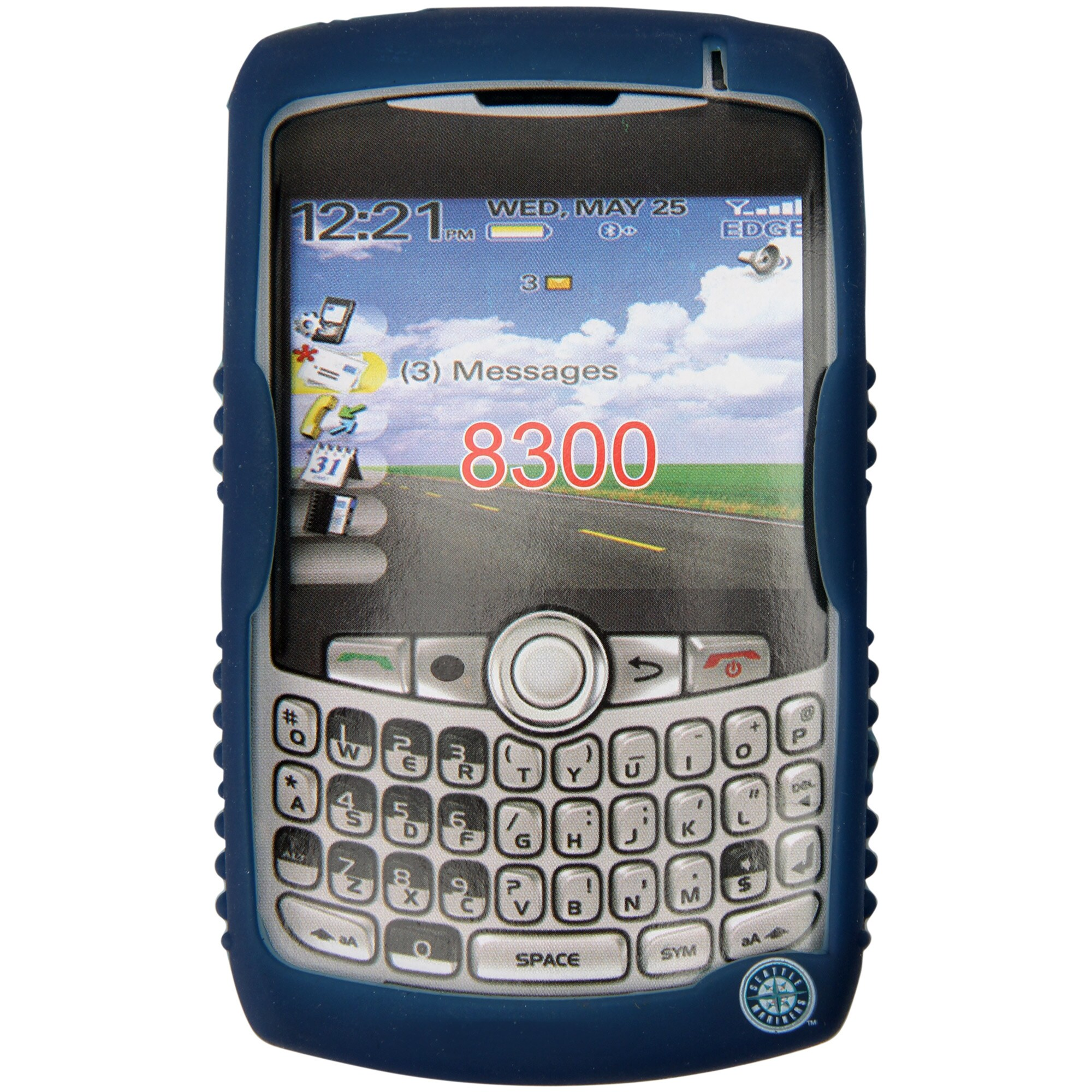 Seattle Mariners BlackBerry Curve Cashmere Silicone Case - Royal