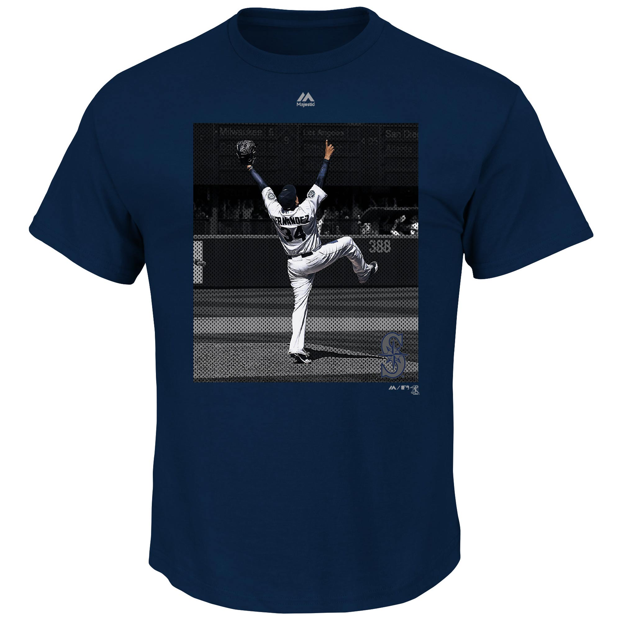 Felix Hernandez Seattle Mariners Majestic Heat Of The Moment T-Shirt - Navy