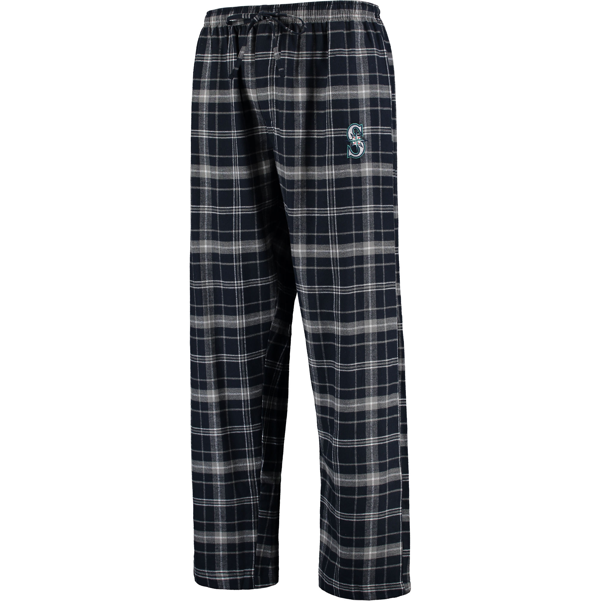Seattle Mariners Concepts Sport Ultimate Plaid Flannel Pants - Navy/Gray
