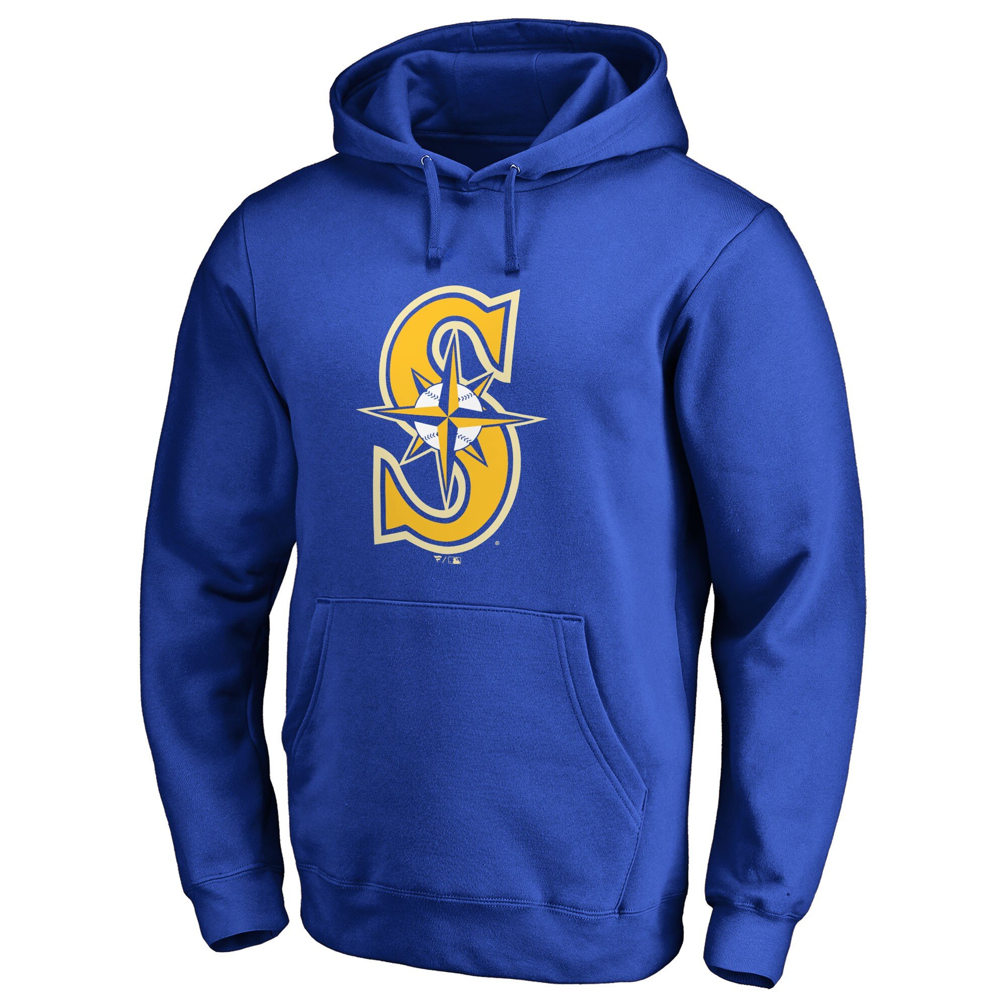 Seattle Mariners Secondary Color Primary Logo Pullover Hoodie - Royal