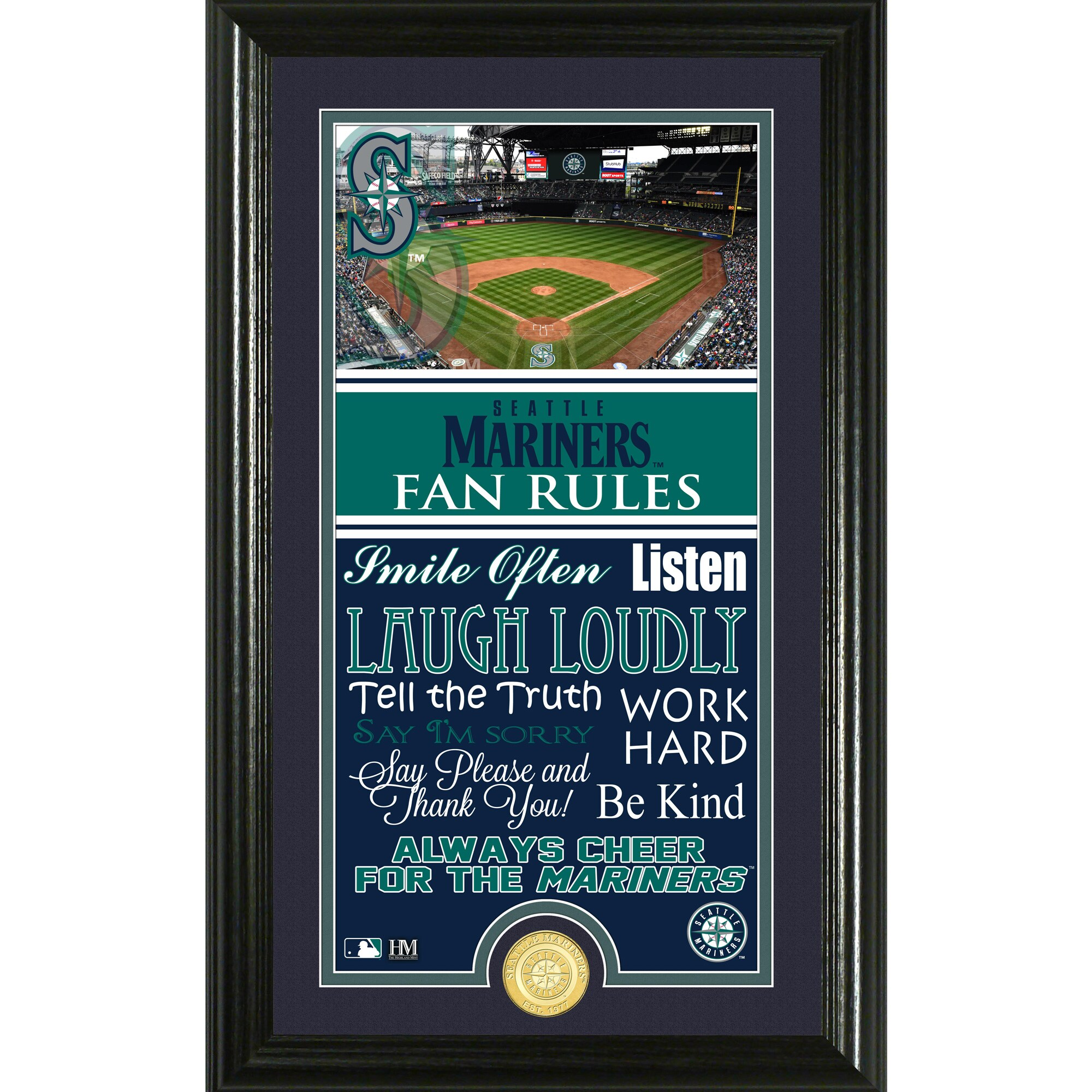 Seattle Mariners Highland Mint Fan Rules Supreme Bronze Coin Photo Mint