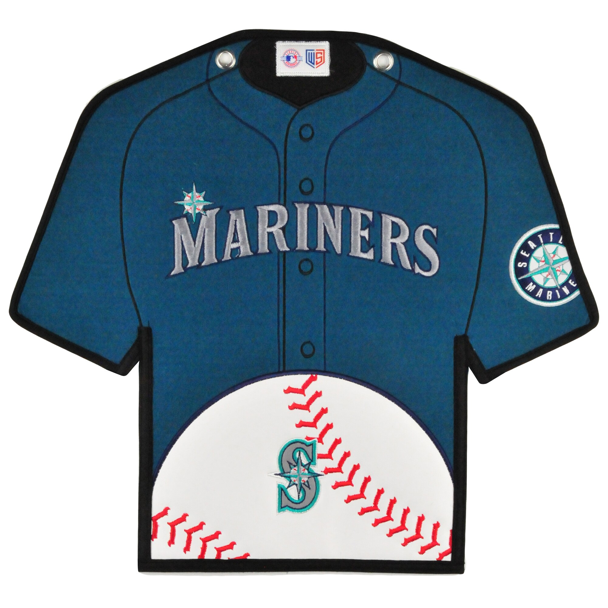 Seattle Mariners 14'' x 22'' Jersey Traditions Banner - Teal/Navy