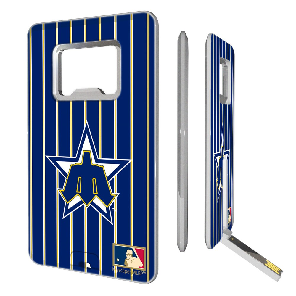 Seattle Mariners 1981-1986 Cooperstown Pinstripe Credit Card USB Drive & Bottle Opener