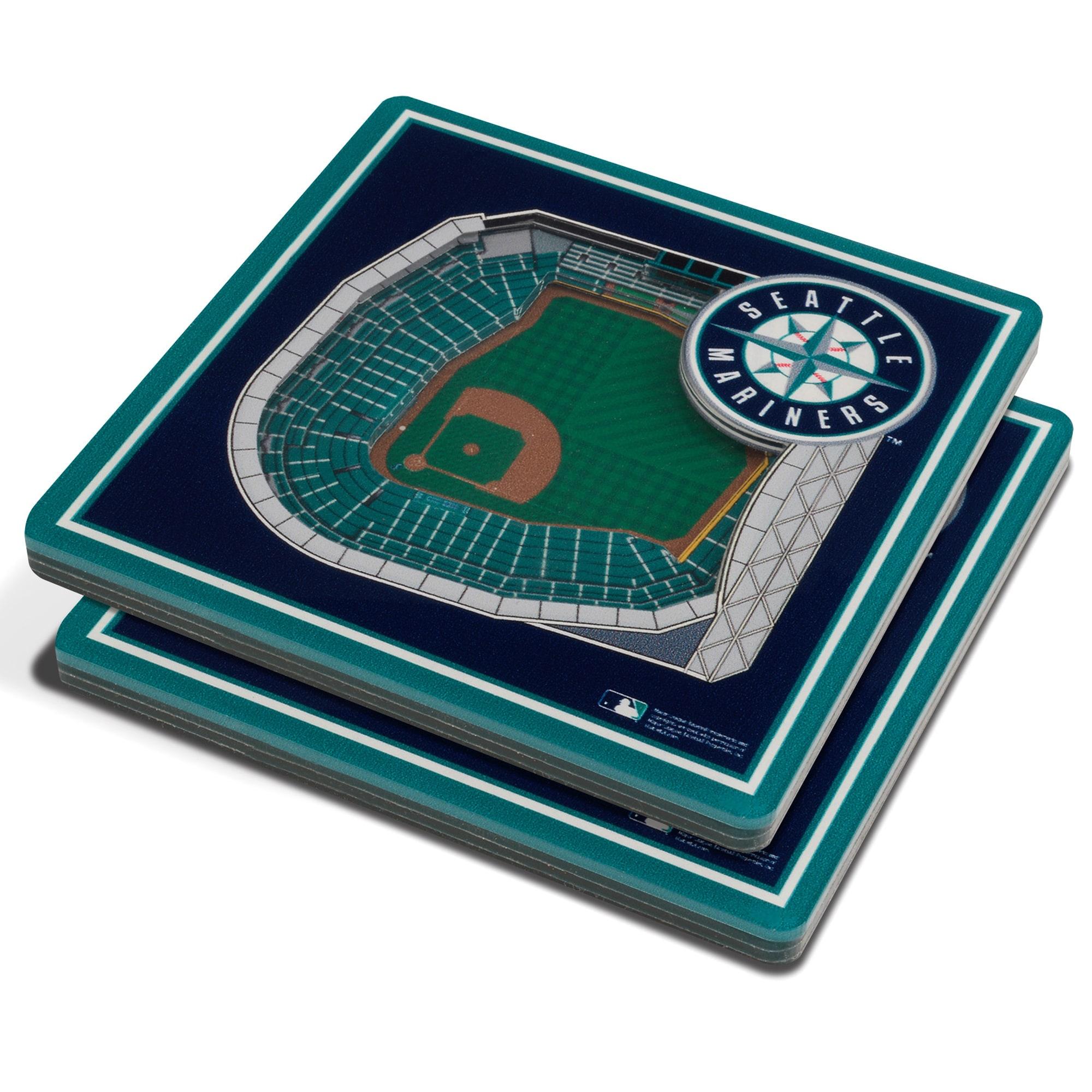 Seattle Mariners 3D StadiumViews Coasters - Blue