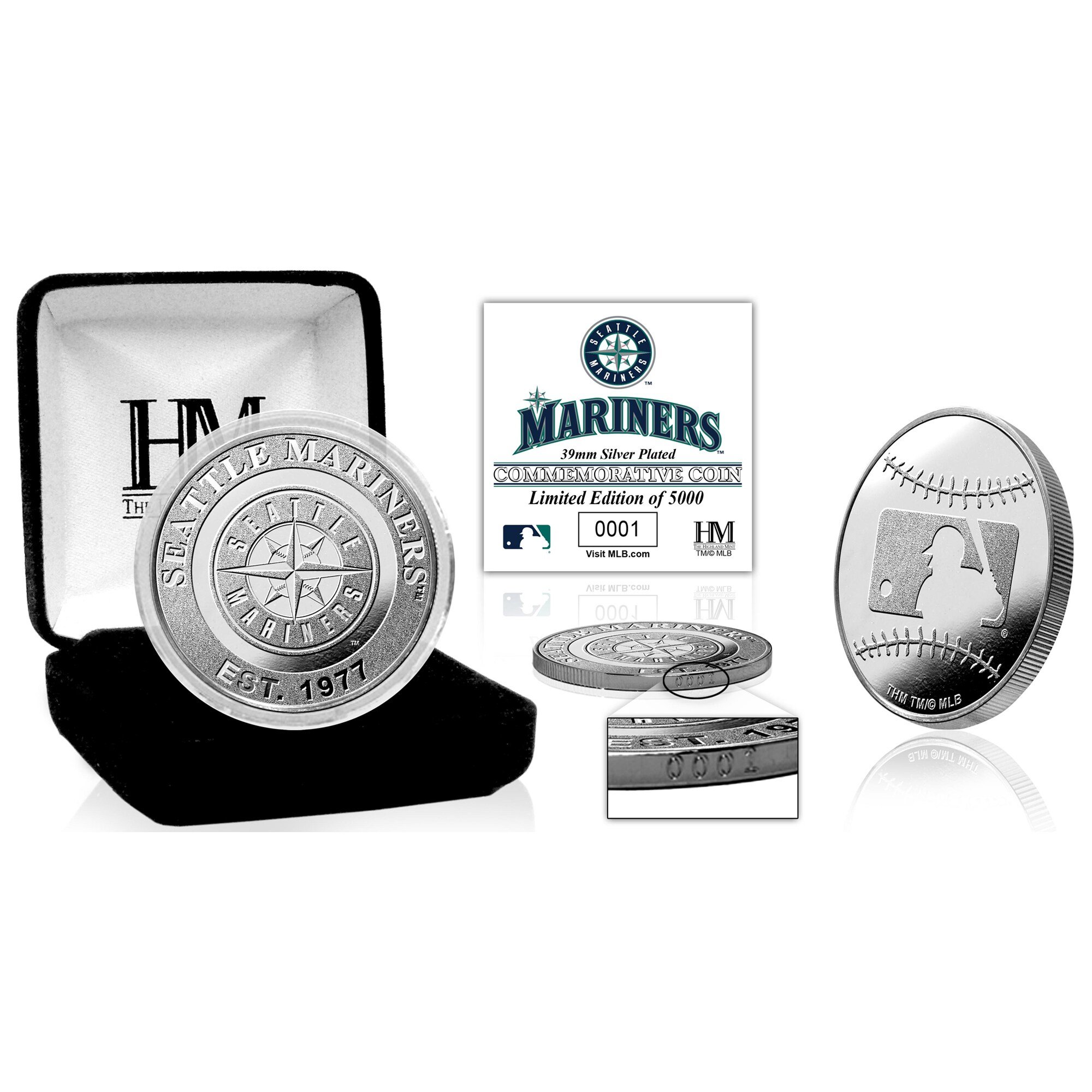 Seattle Mariners Highland Mint Silver Mint Coin