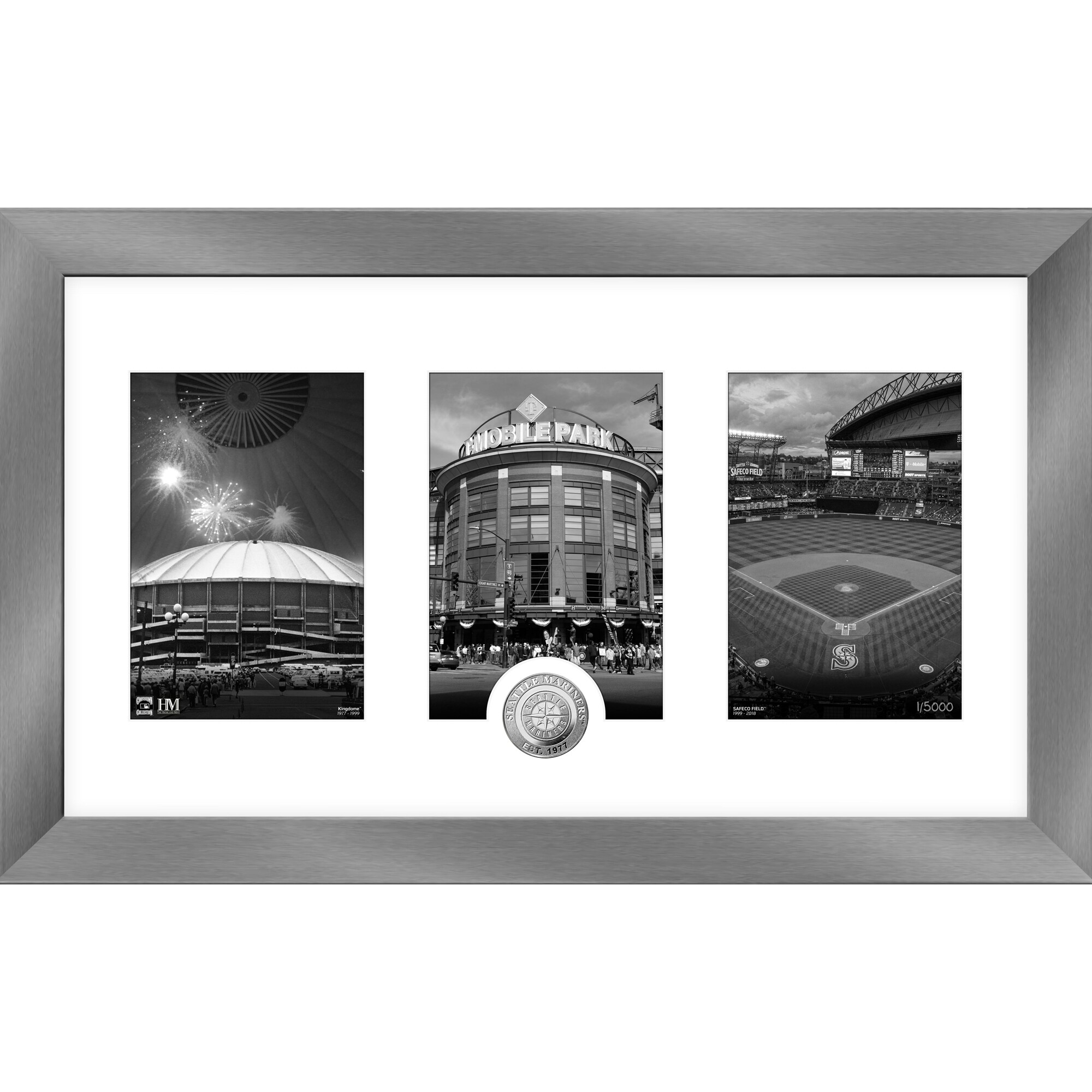 Seattle Mariners Highland Mint 12'' x 20'' Art Deco Silver Coin Photo Mint