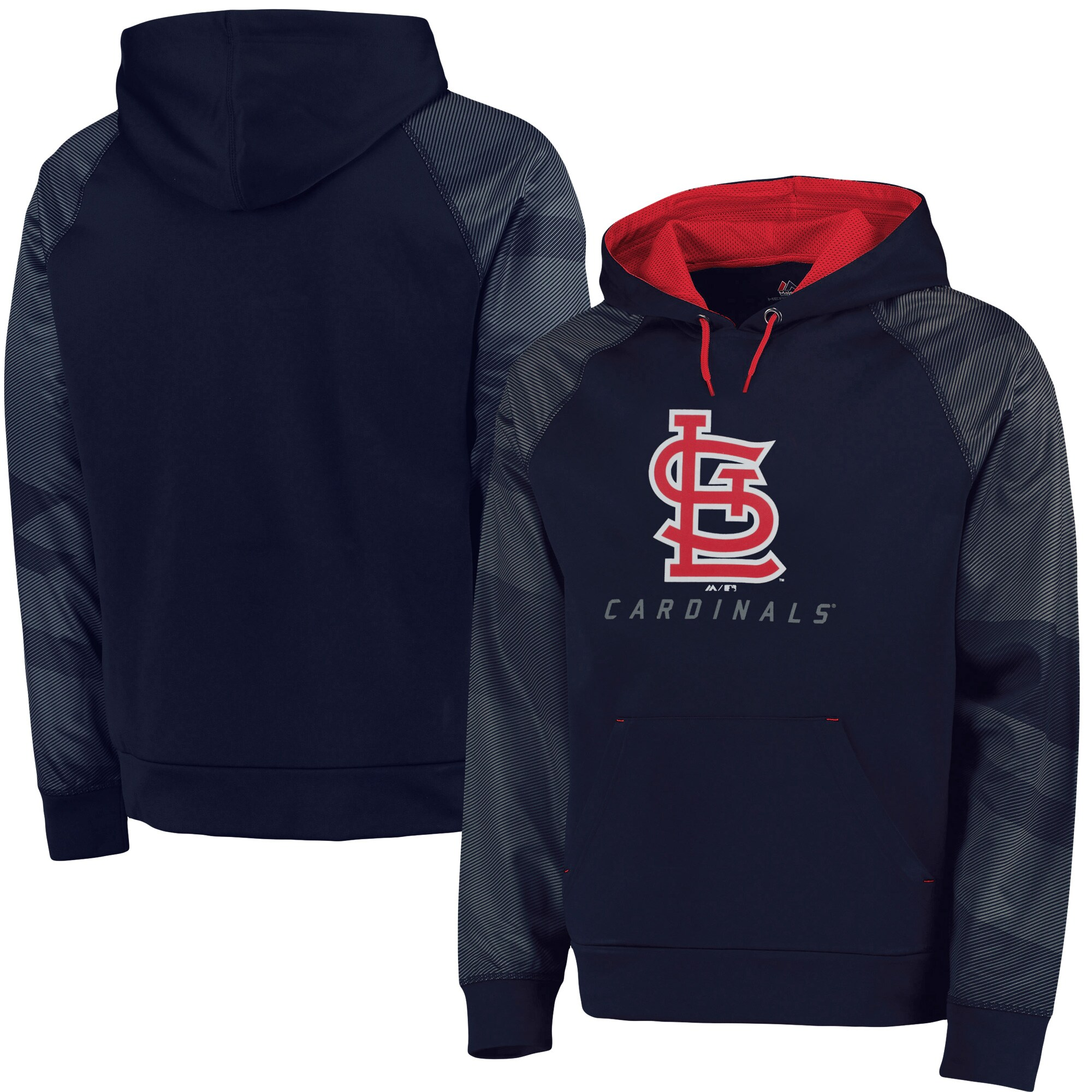 St. Louis Cardinals Majestic Big & Tall New Armour Performance Hoodie - Navy