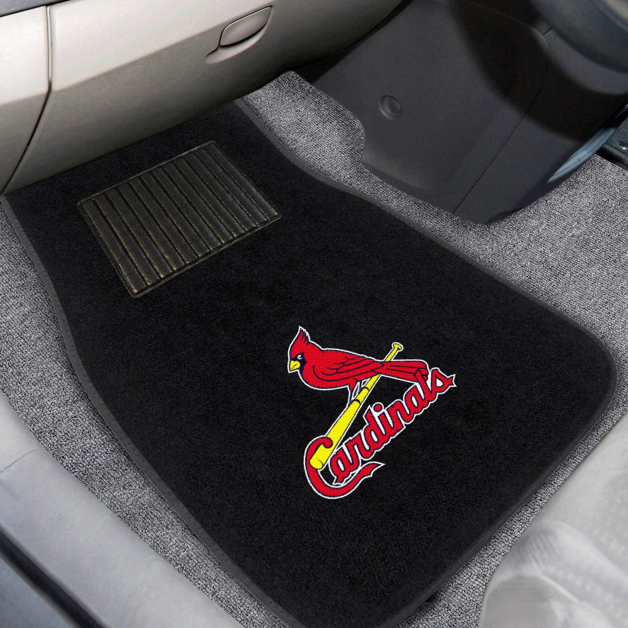 St. Louis Cardinals 2-Piece Embroidered Car Mat Set
