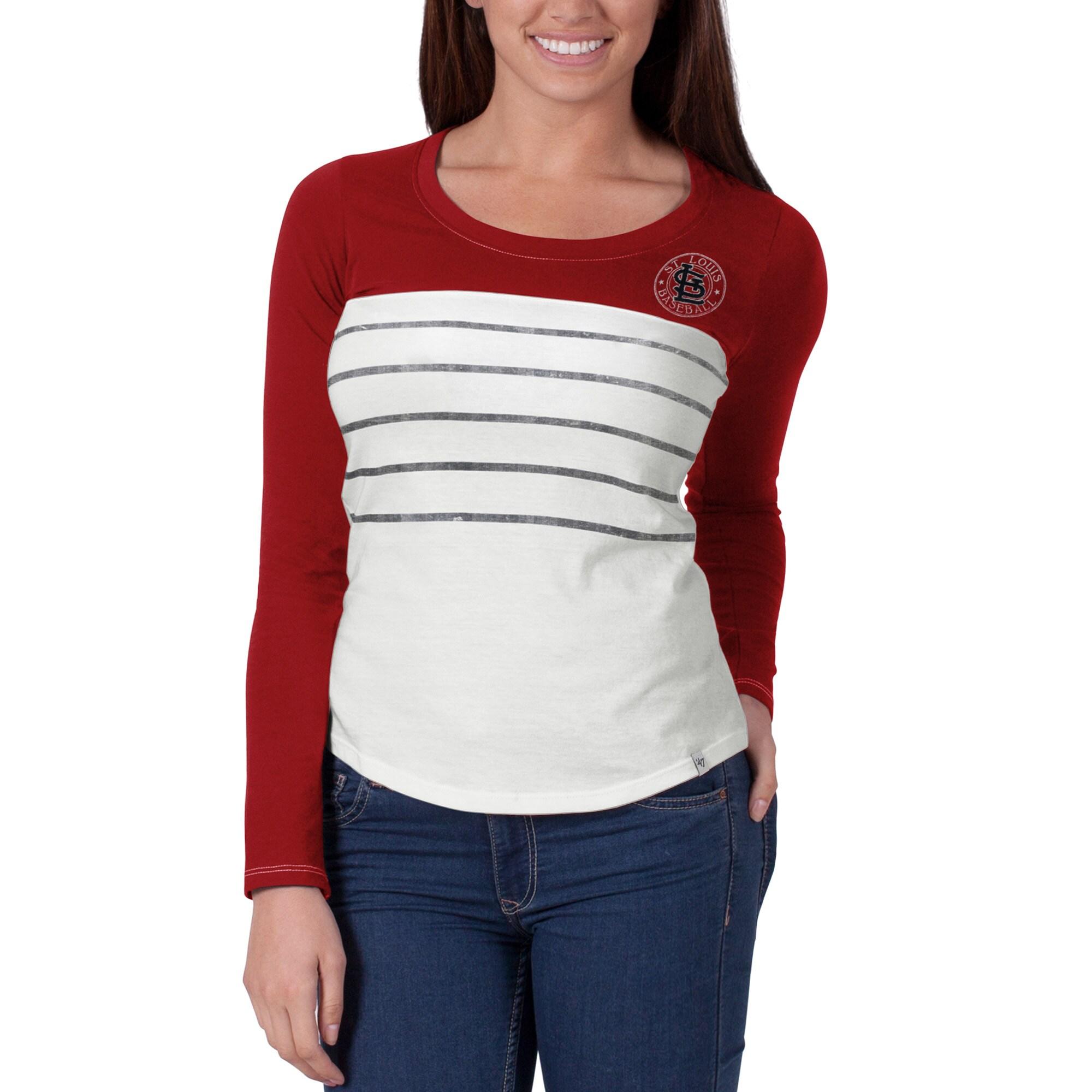 St. Louis Cardinals '47 Women's Breakers T-Shirt - Red