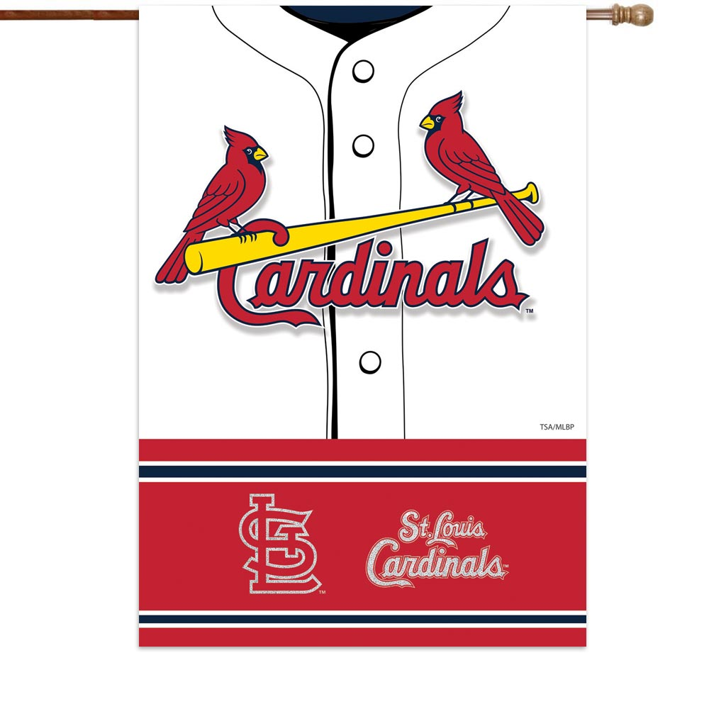 """St. Louis Cardinals 29"""" x 43"""" Double-Sided Jersey Foil House Flag"""