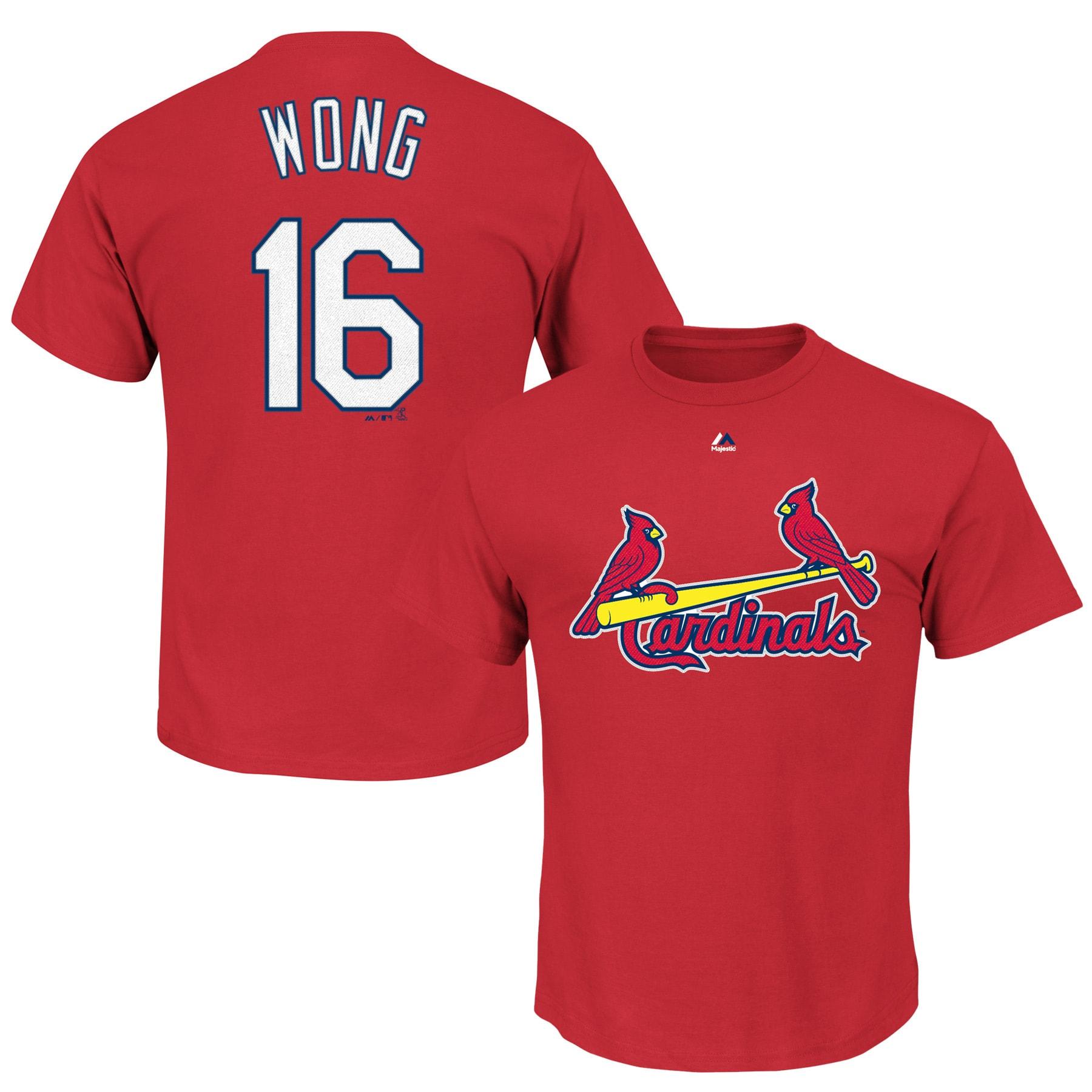Kolten Wong St. Louis Cardinals Majestic Big & Tall Official Player T-Shirt - Red