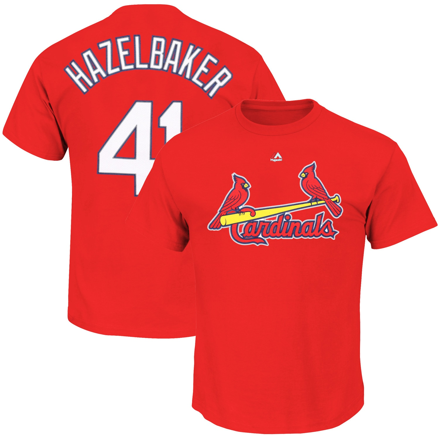 Jeremy Hazelbaker St. Louis Cardinals Majestic Official Name & Number T-Shirt - Red