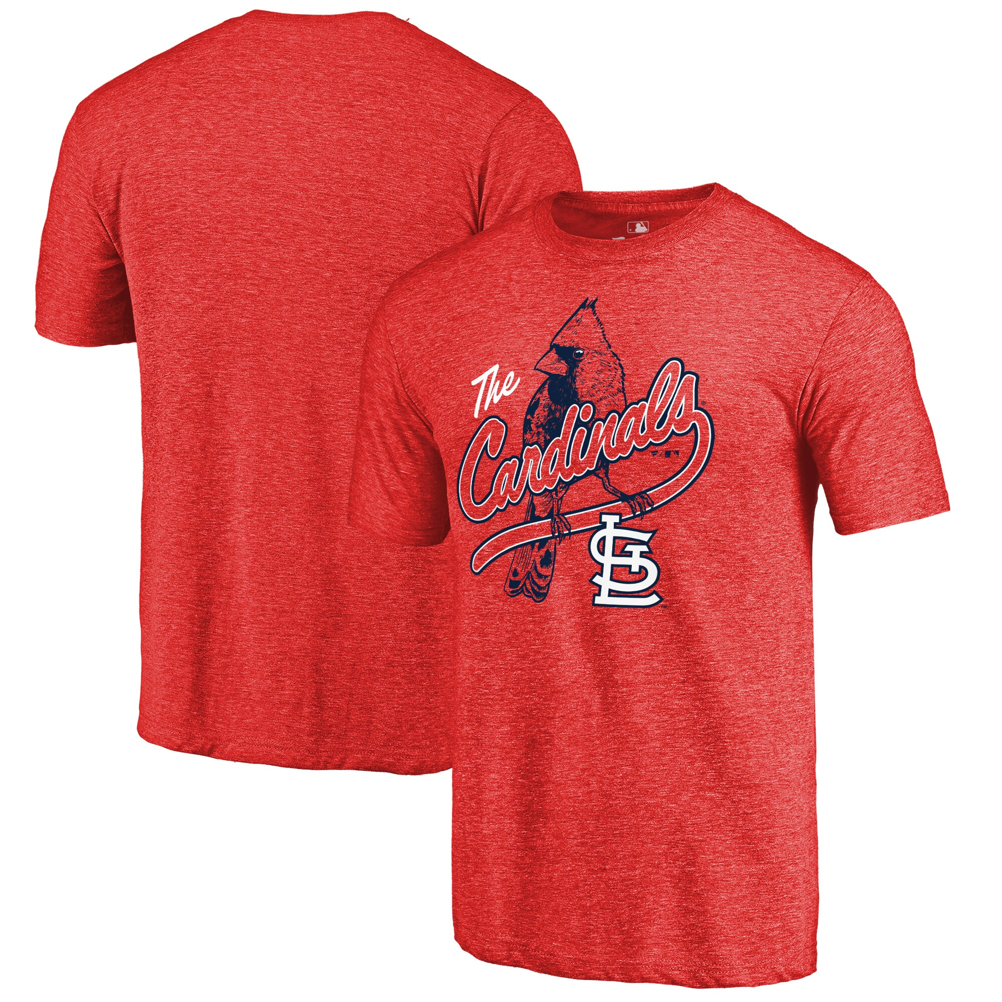 St. Louis Cardinals Perch Hometown Tri-Blend T-Shirt - Red