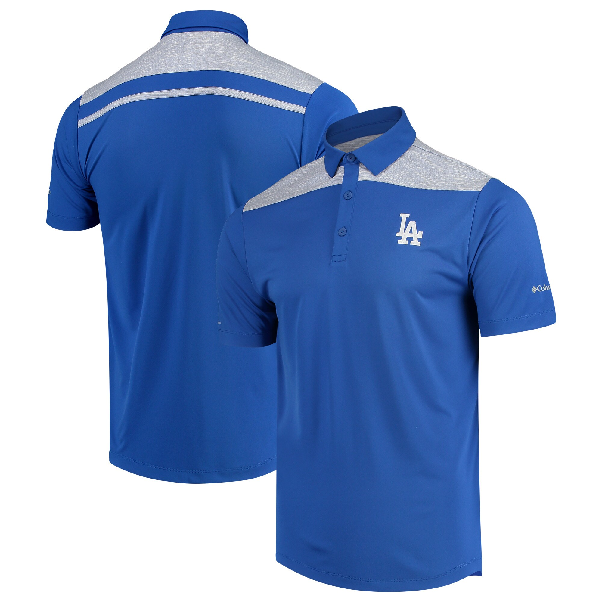 Los Angeles Dodgers Columbia Utility Omni-Wick Polo - Royal