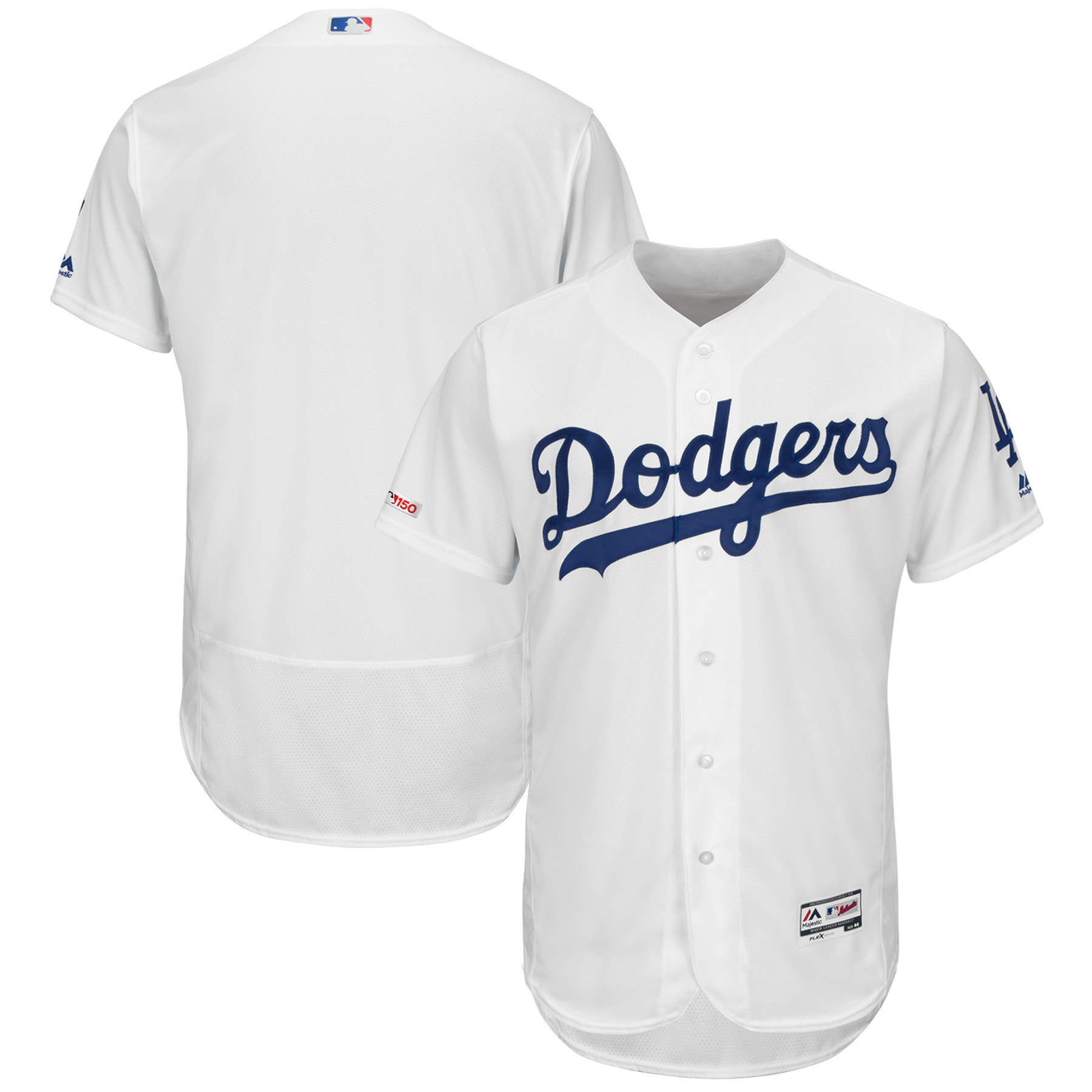 Los Angeles Dodgers Majestic Home Flex Base Authentic Collection Team Jersey - White