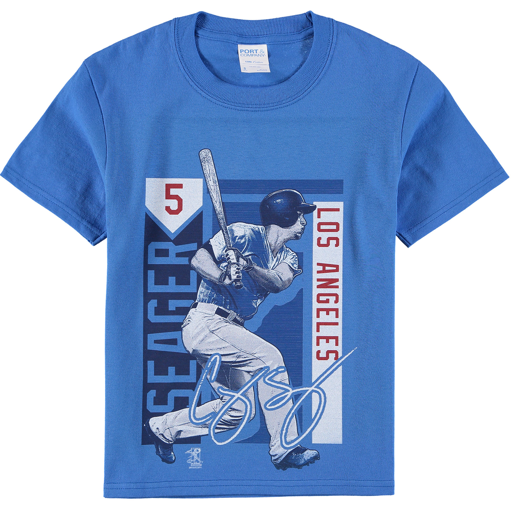 Corey Seager Los Angeles Dodgers Youth Color Block Player Series Graphic T-Shirt - Royal
