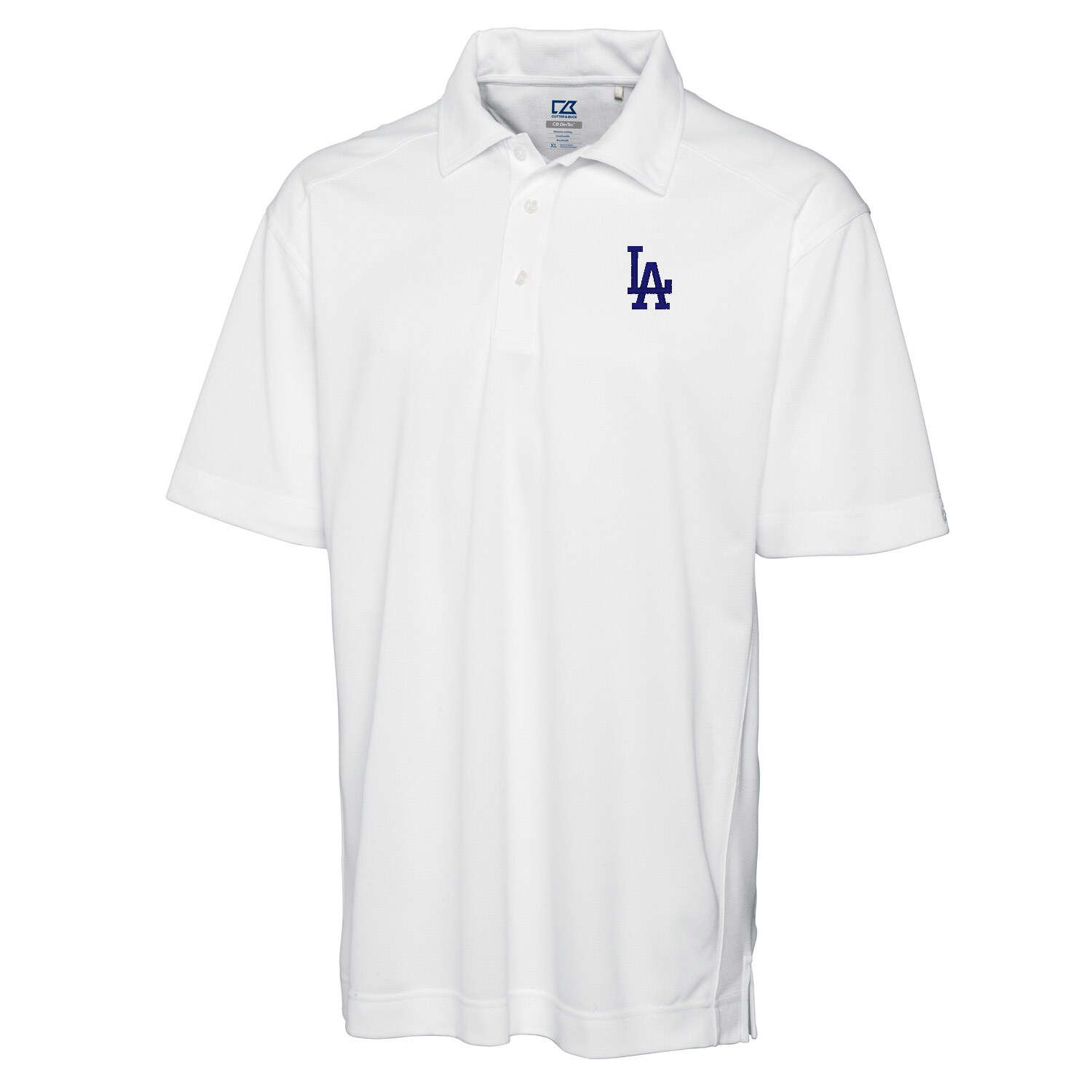 Los Angeles Dodgers Cutter & Buck Big & Tall DryTec Genre Polo - White