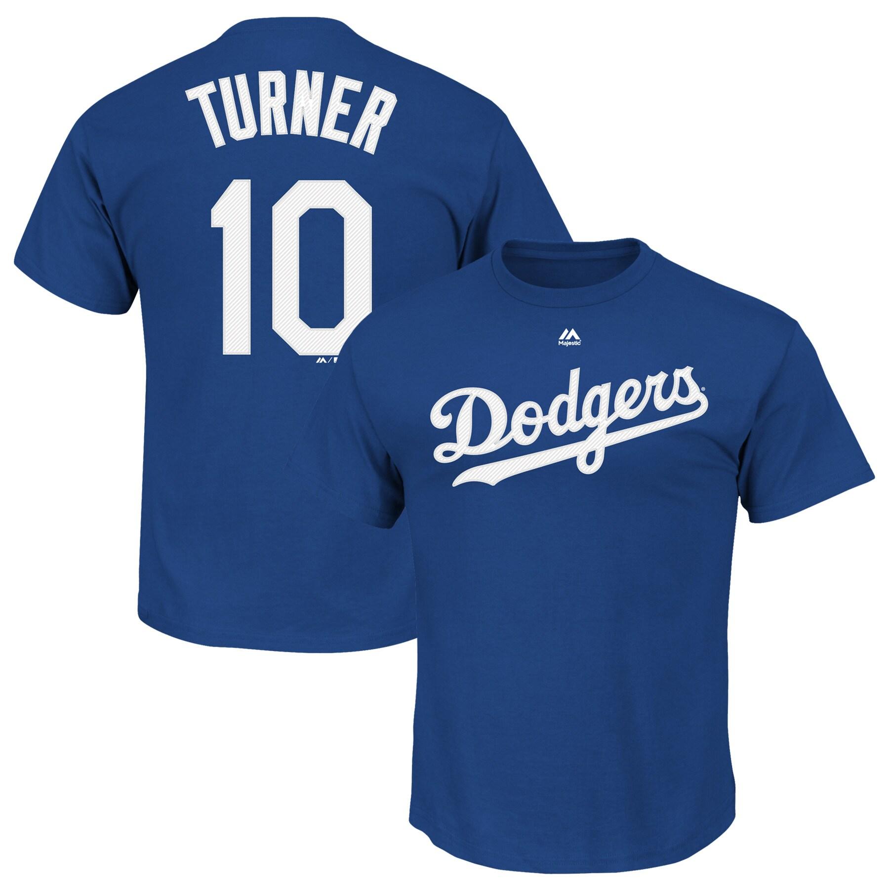 Justin Turner Los Angeles Dodgers Majestic Official Name & Number T-Shirt - Royal