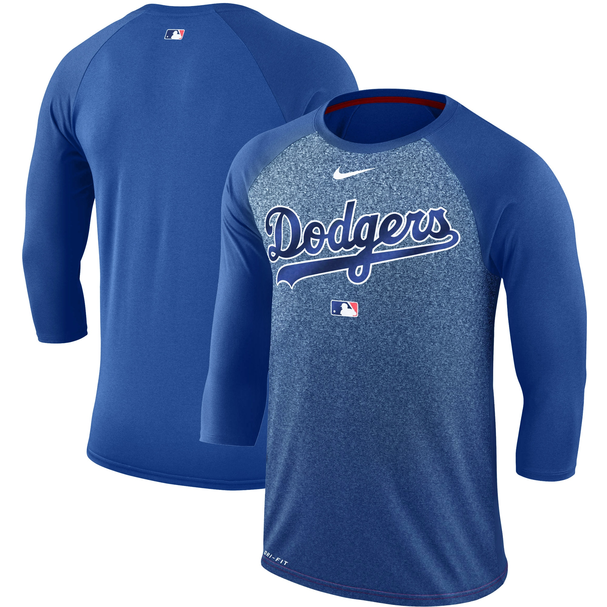 Los Angeles Dodgers Nike Authentic Collection Legend 3/4-Sleeve Raglan Performance T-Shirt - Royal
