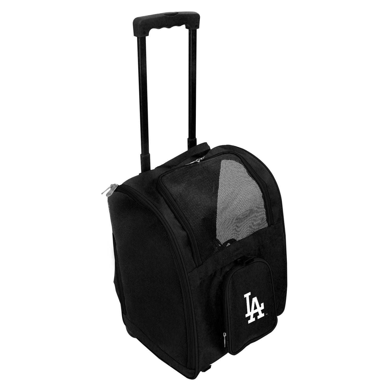 Los Angeles Dodgers 2-Wheeled Roller Pet Carrier - Black