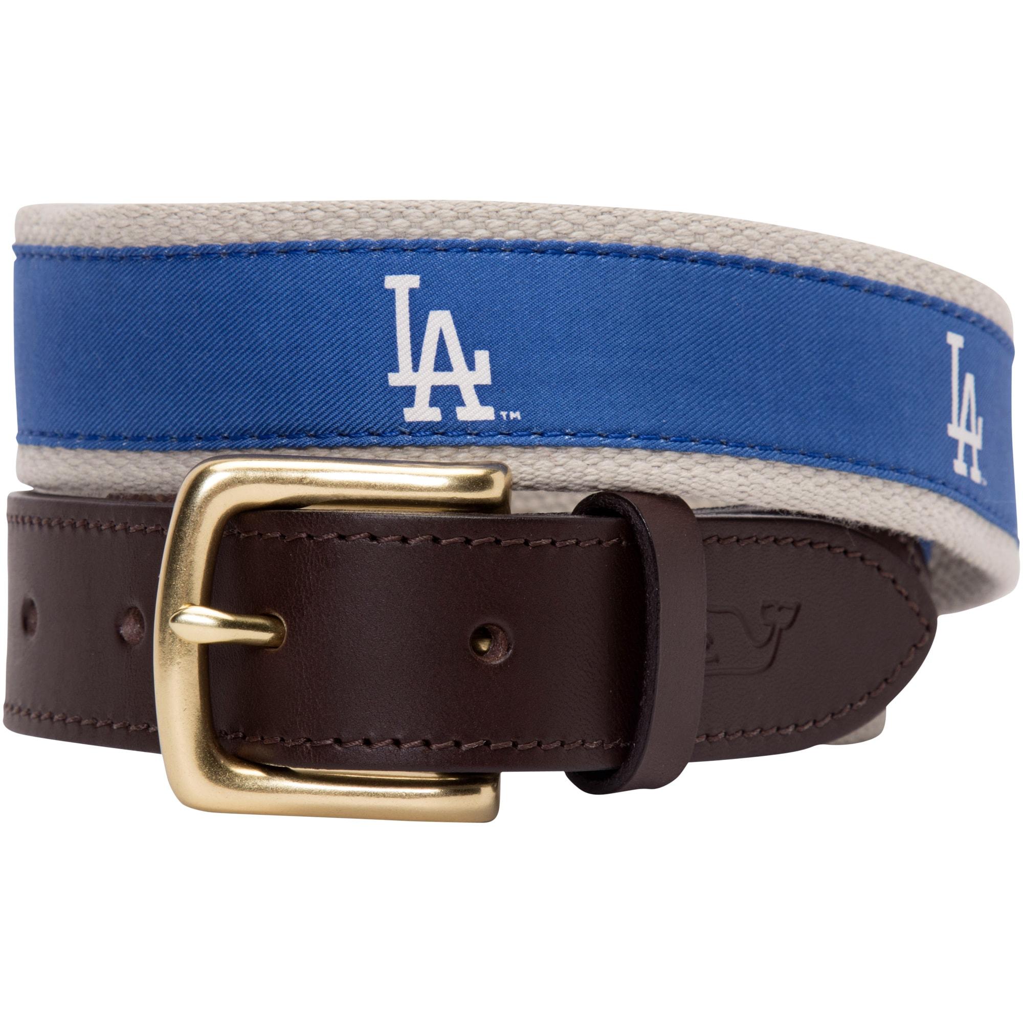 Los Angeles Dodgers Vineyard Vines MLB Canvas Belt - Royal