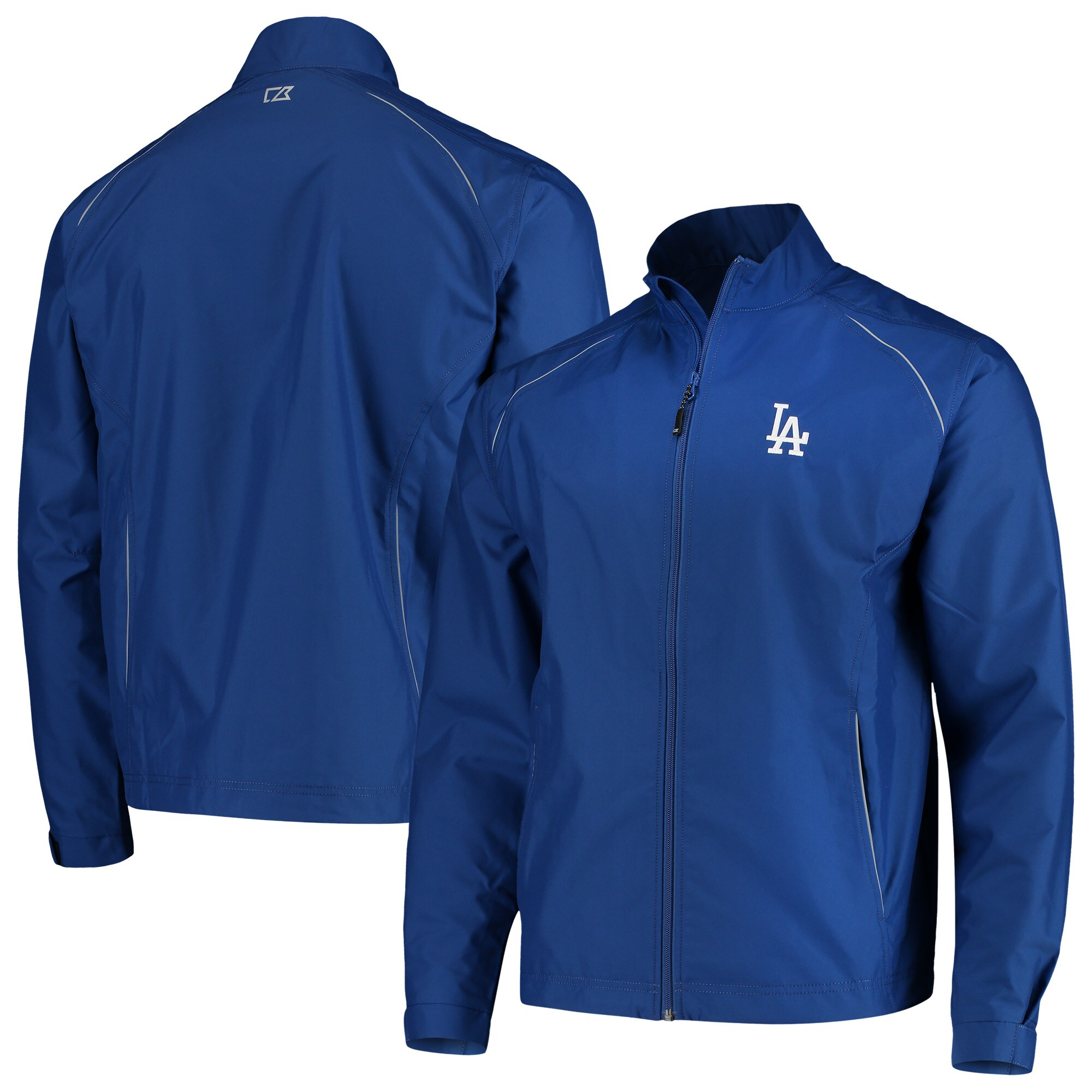 Los Angeles Dodgers Cutter & Buck Beacon WeatherTec Full-Zip Jacket - Royal