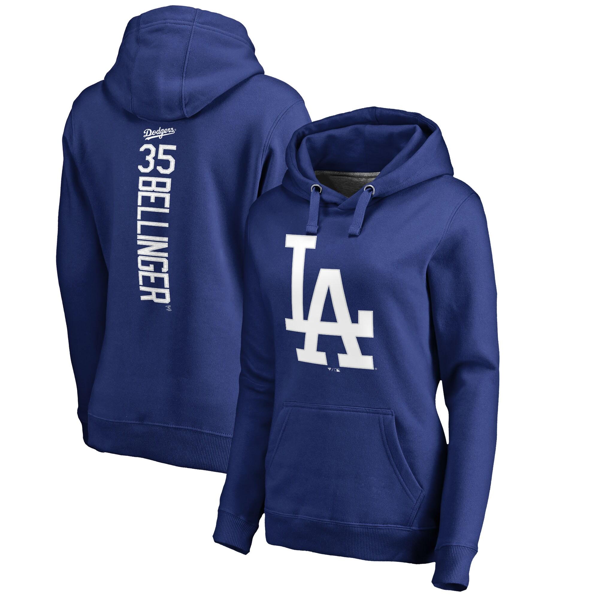 Cody Bellinger Los Angeles Dodgers Fanatics Branded Women's Backer Pullover Hoodie - Royal