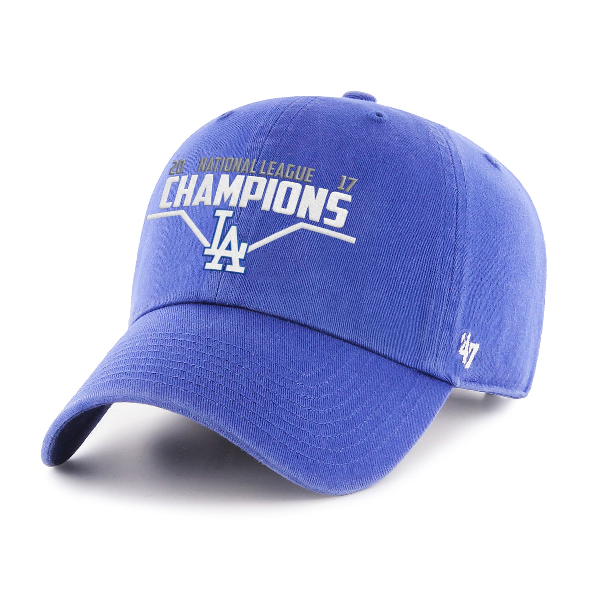 Los Angeles Dodgers '47 2017 National League Champions Cleanup Adjustable Hat - Royal
