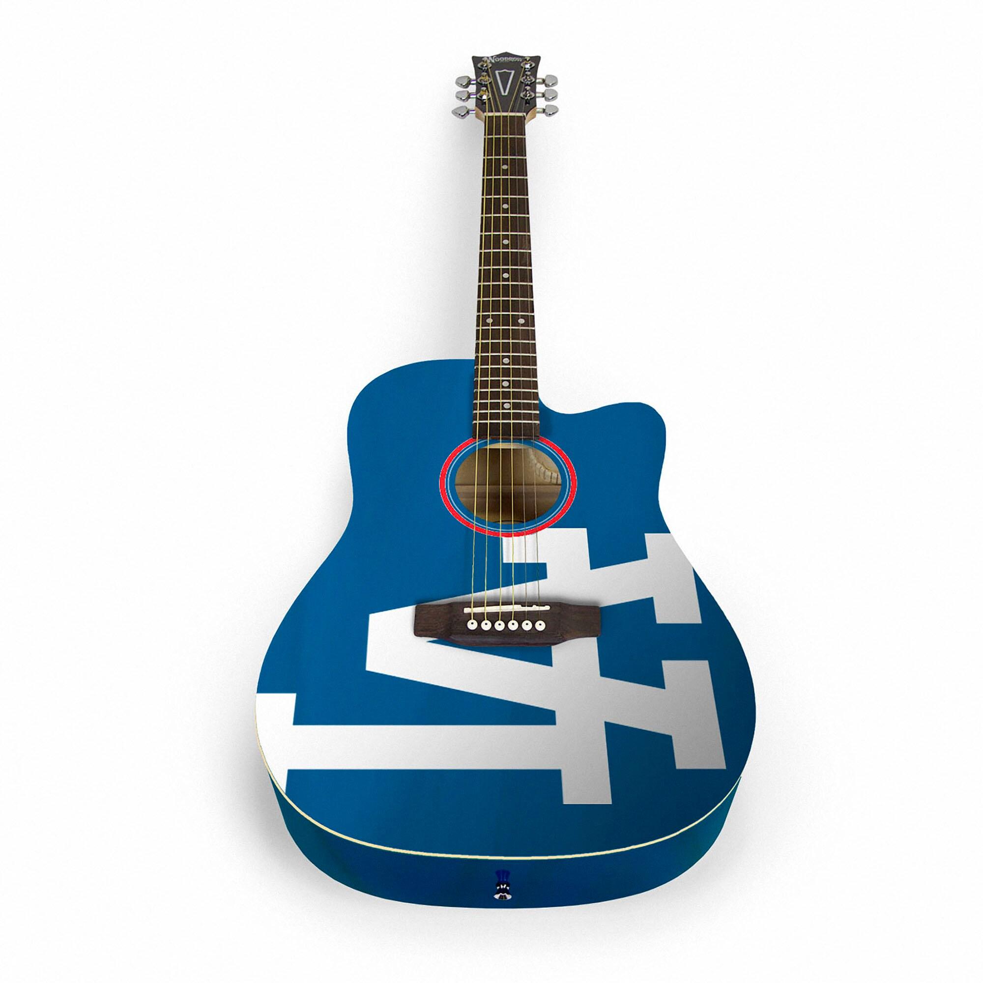 Los Angeles Dodgers Woodrow Acoustic Guitar