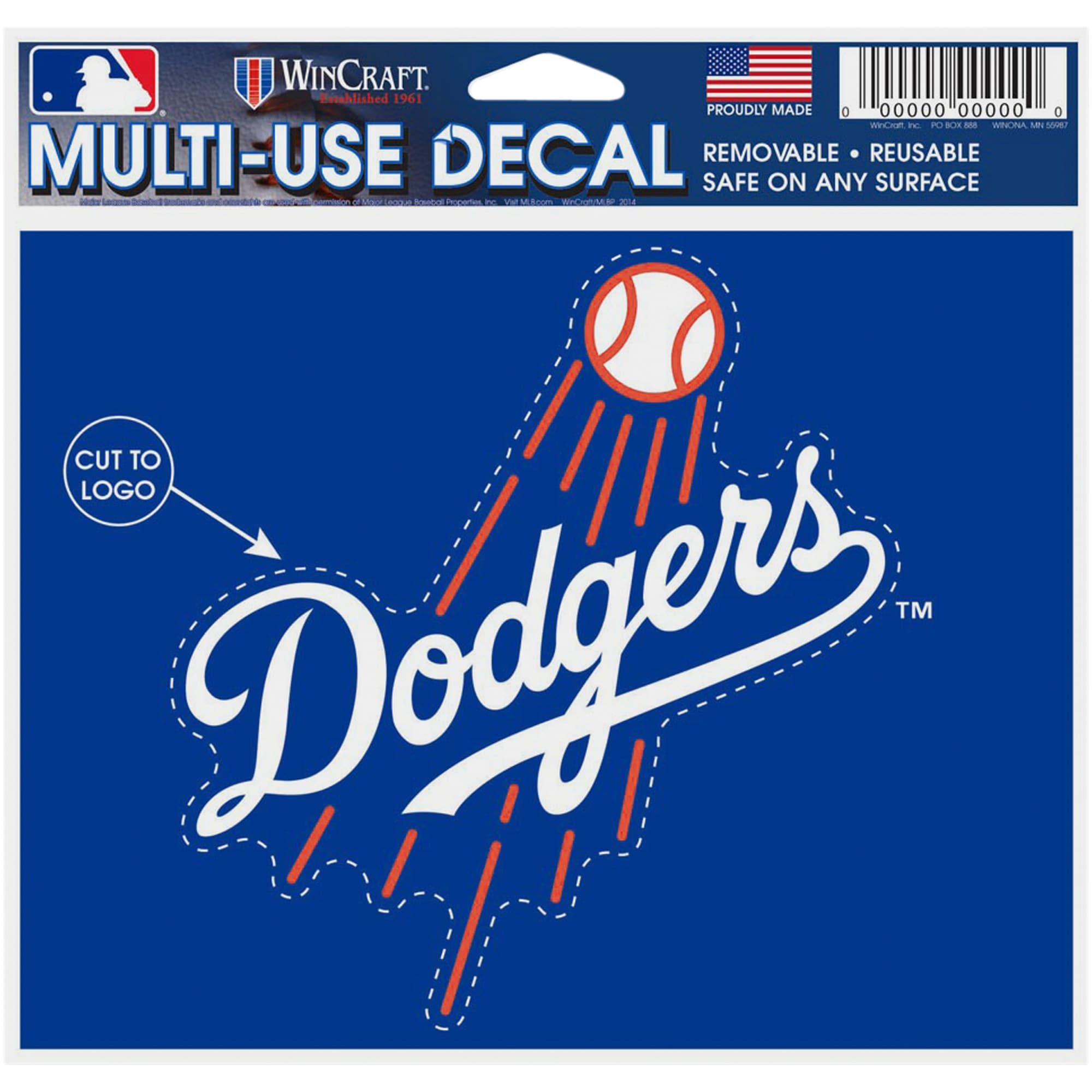 """Los Angeles Dodgers WinCraft 5"""" x 6"""" Multi-Use Decal -"""
