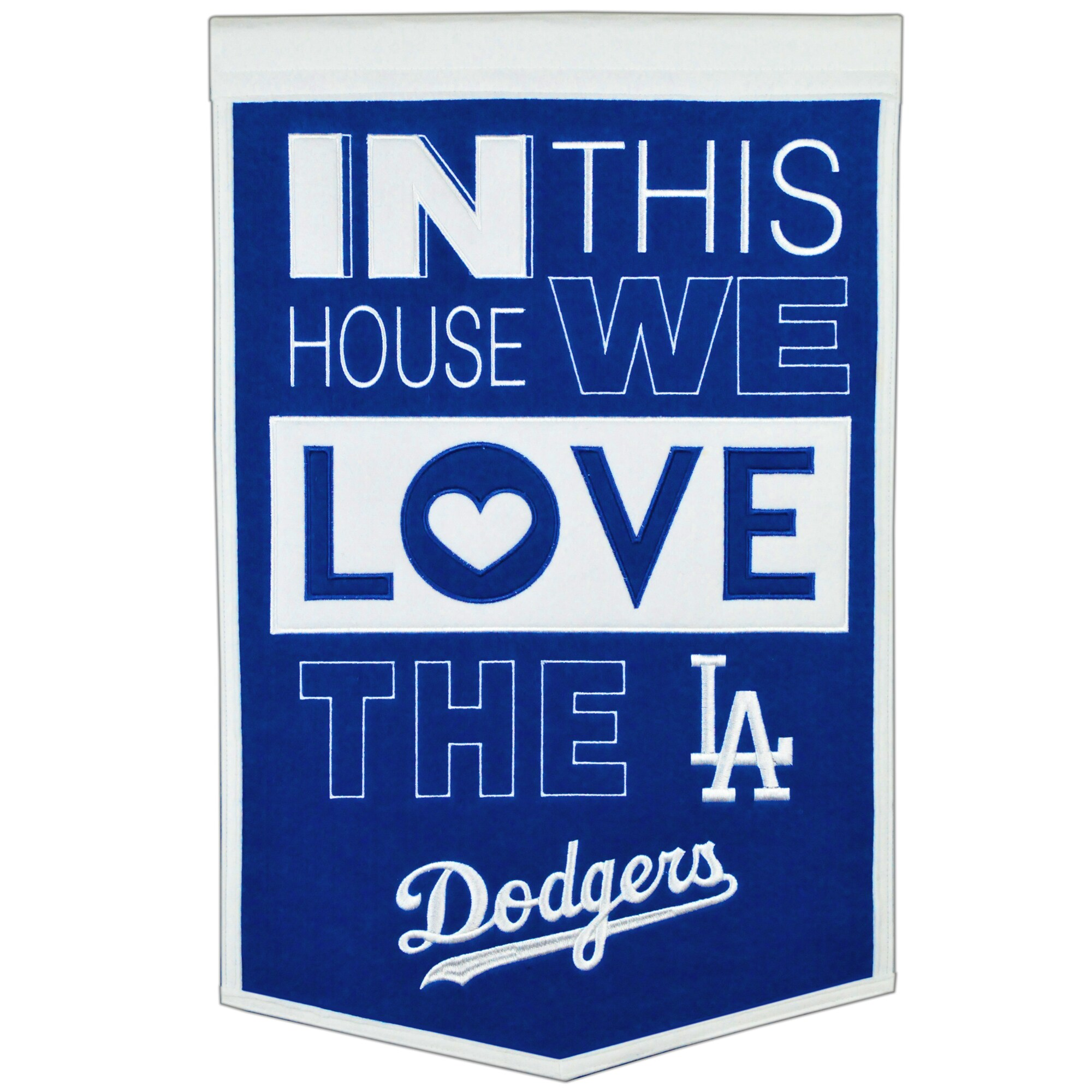 Los Angeles Dodgers 15'' x 24'' Home Banner - Blue/White