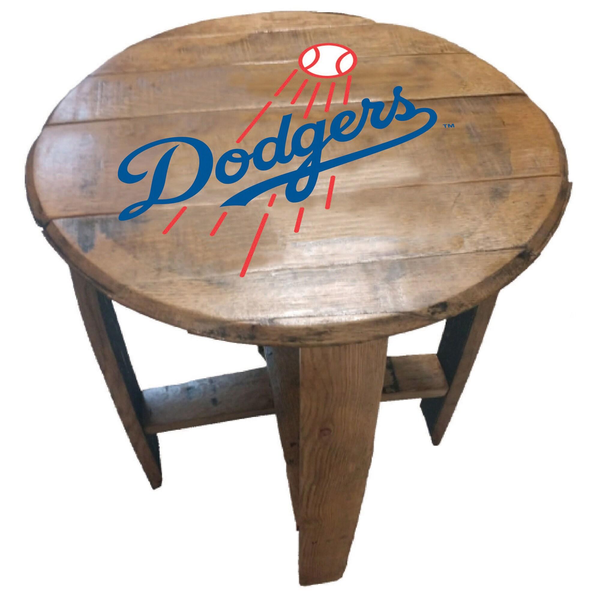 Los Angeles Dodgers Imperial Oak Barrel Table