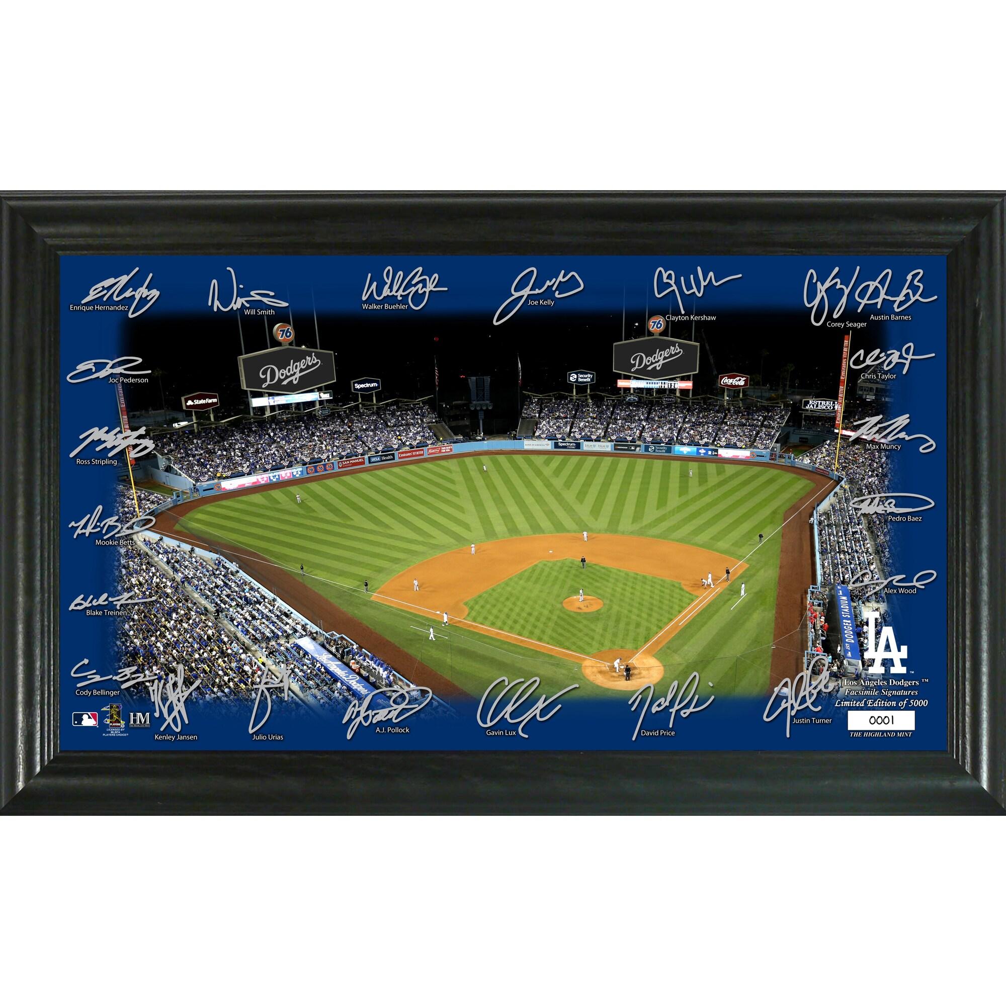 Los Angeles Dodgers Highland Mint 12'' x 20'' Signature Field Limited Editon Framed Photo Mint