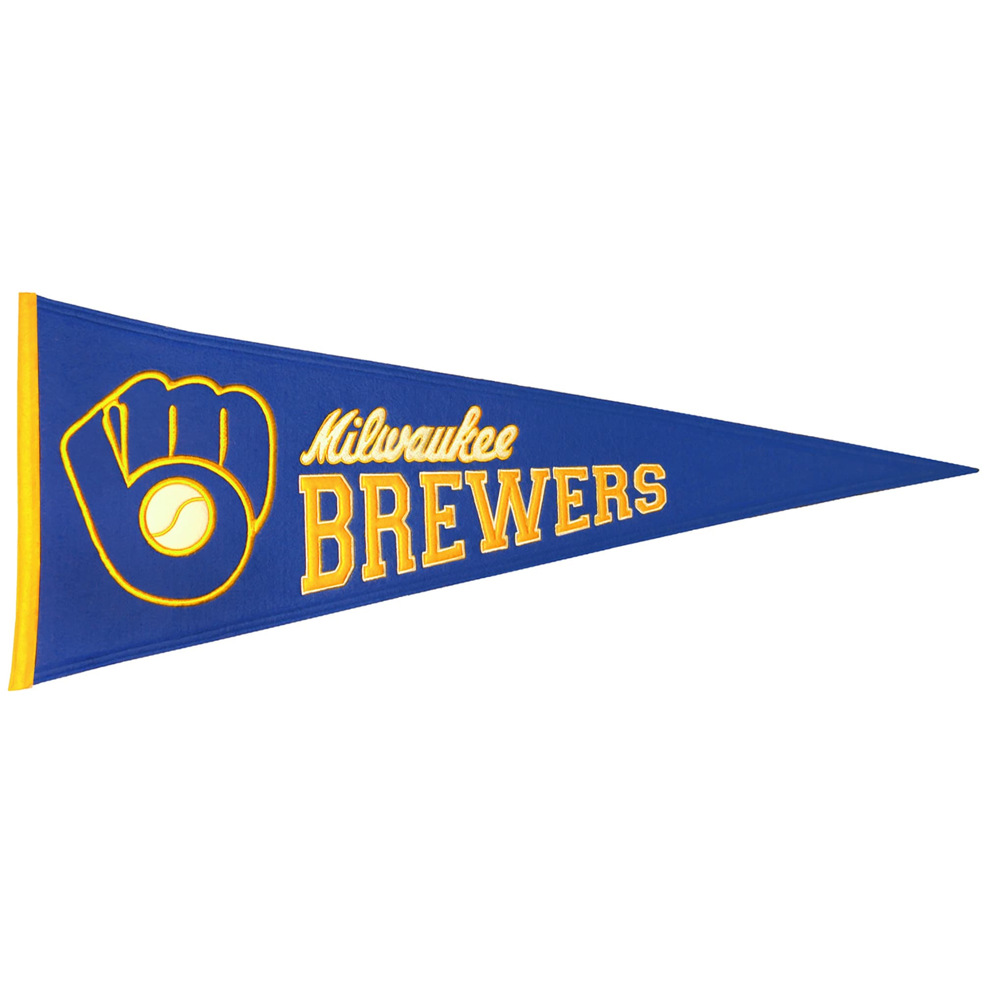 """Milwaukee Brewers 13"""" x 32"""" Cooperstown Pennant"""
