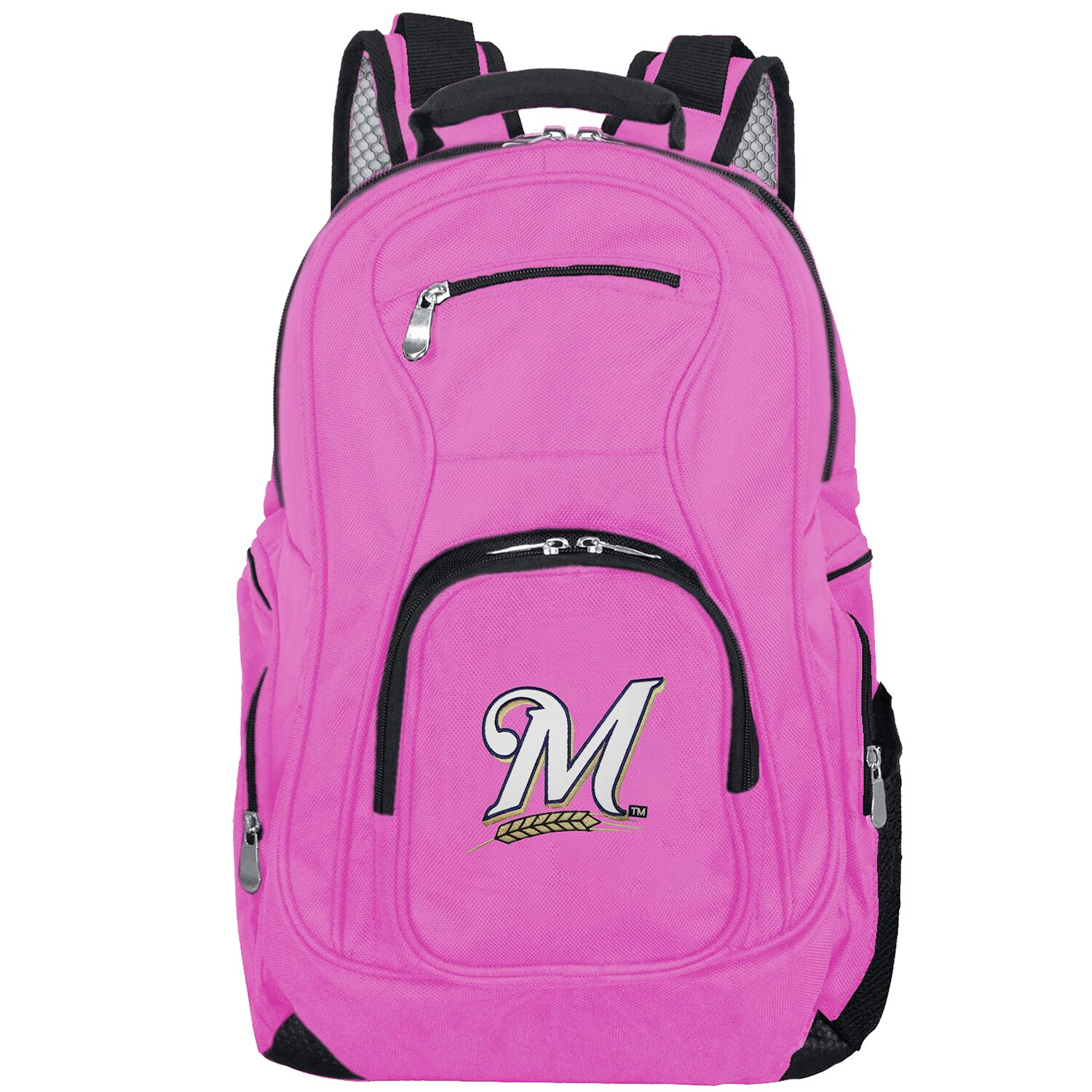 Milwaukee Brewers Backpack Laptop - Pink