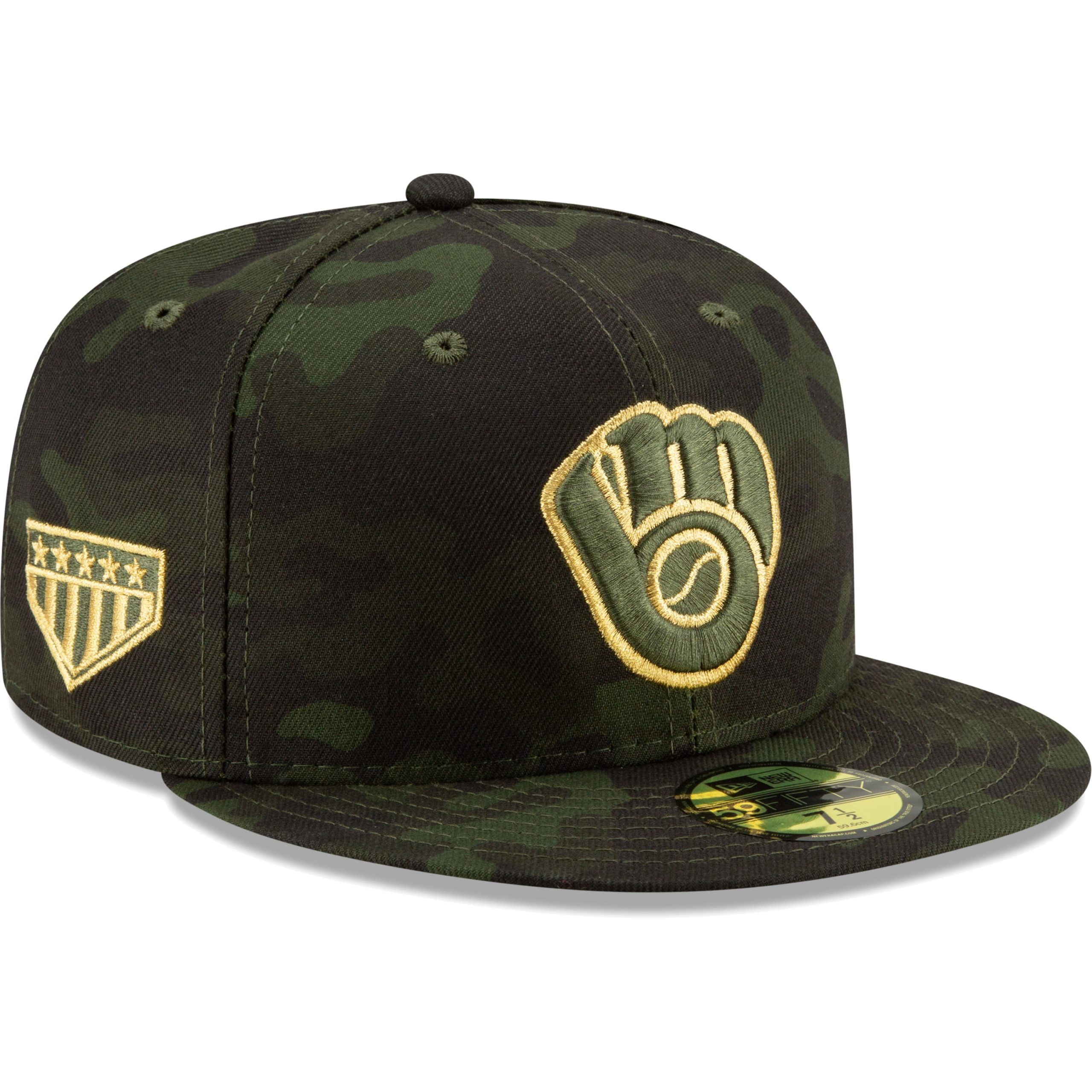 Milwaukee Brewers New Era MLB Armed Forces Day On-Field 59FIFTY Fitted Hat - Camo