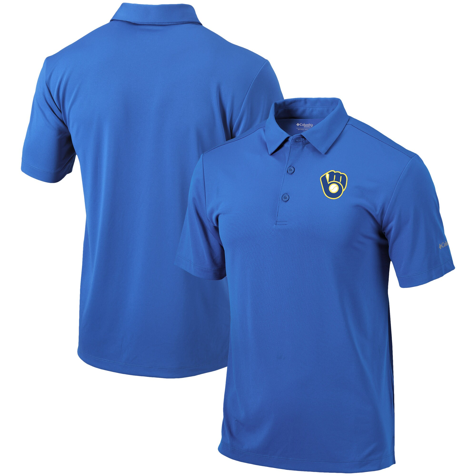 Milwaukee Brewers Columbia Cooperstown Collection Drive Polo - Royal