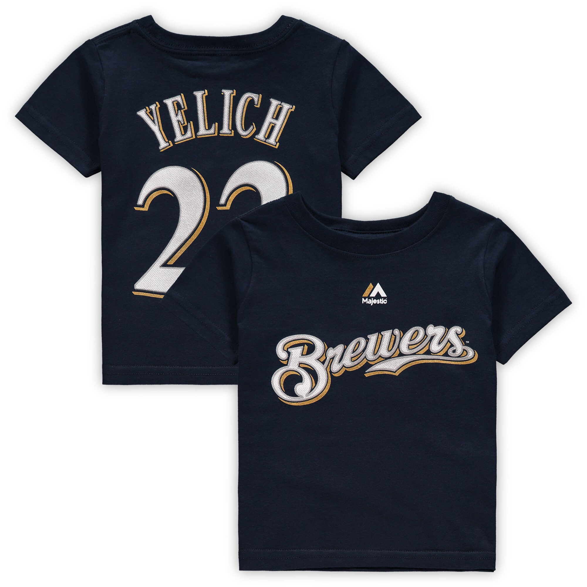 Christian Yelich Milwaukee Brewers Majestic Infant Player Name & Number T-Shirt - Navy