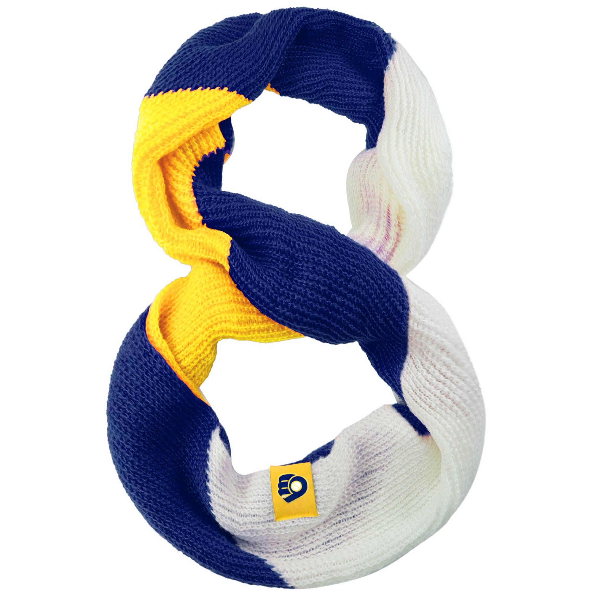 Milwaukee Brewers Women's Color Block Knit Infinity Scarf