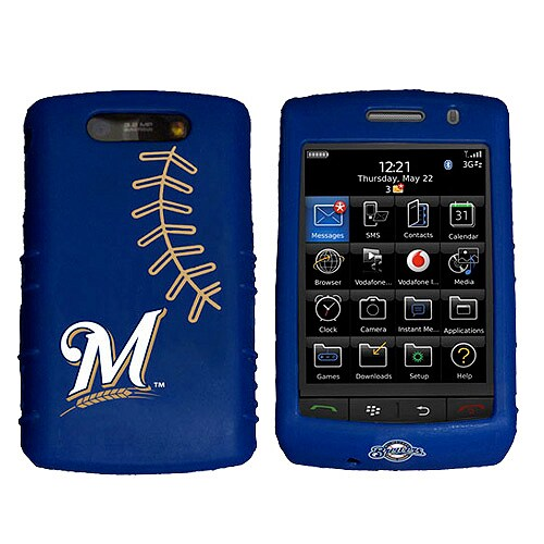 Milwaukee Brewers BlackBerry Storm Cashmere Silicone Case - Navy